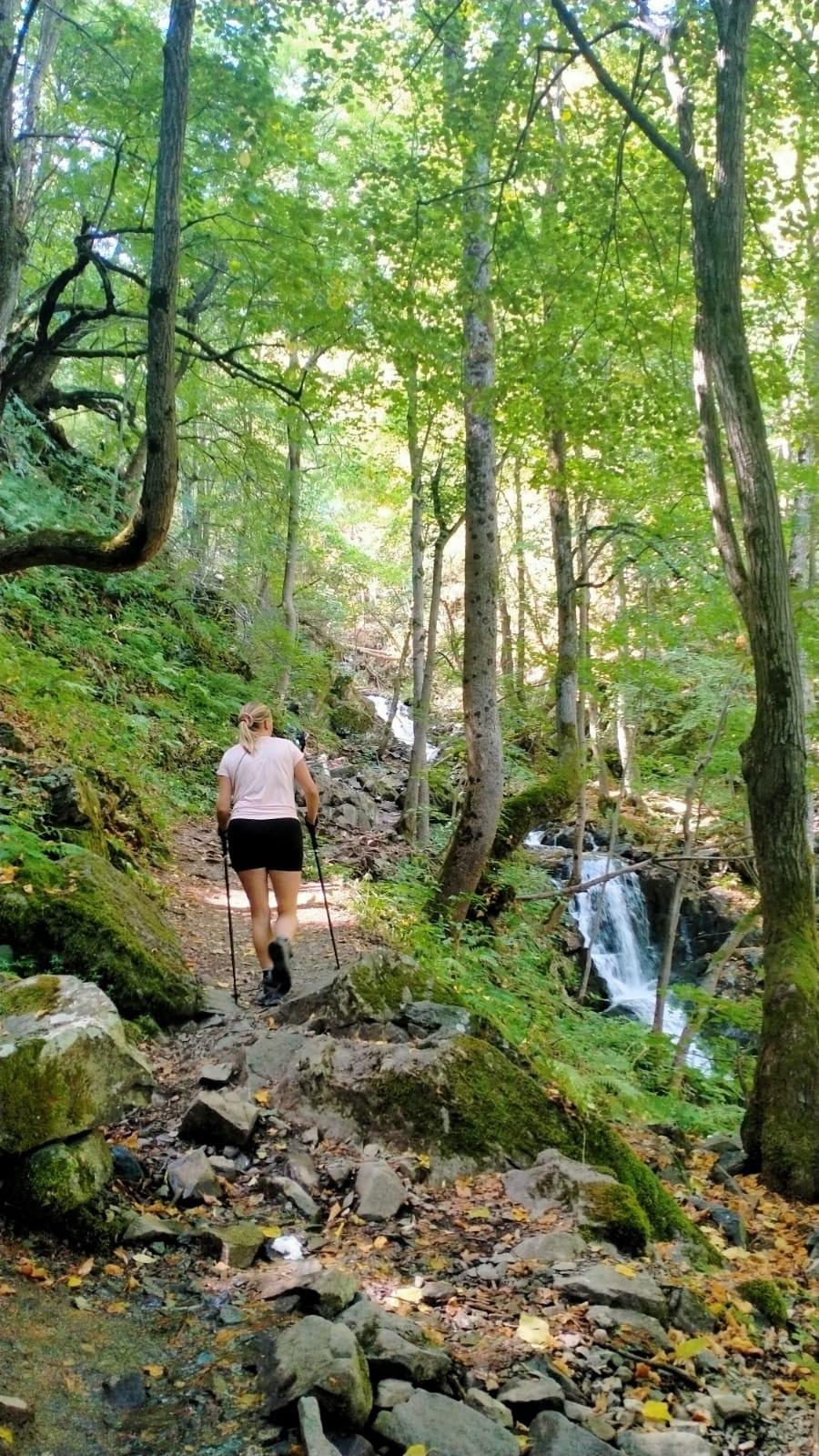 Wandelen naar de Bojana waterval