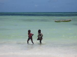 Zanzibar beach kids