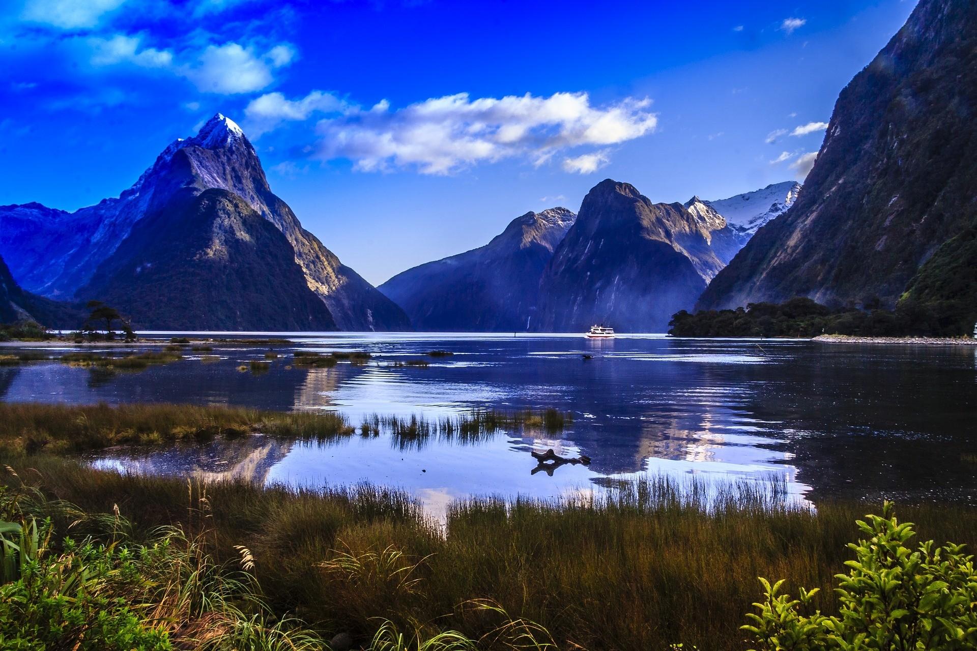 Fiordland Nationaal Park in de zomer