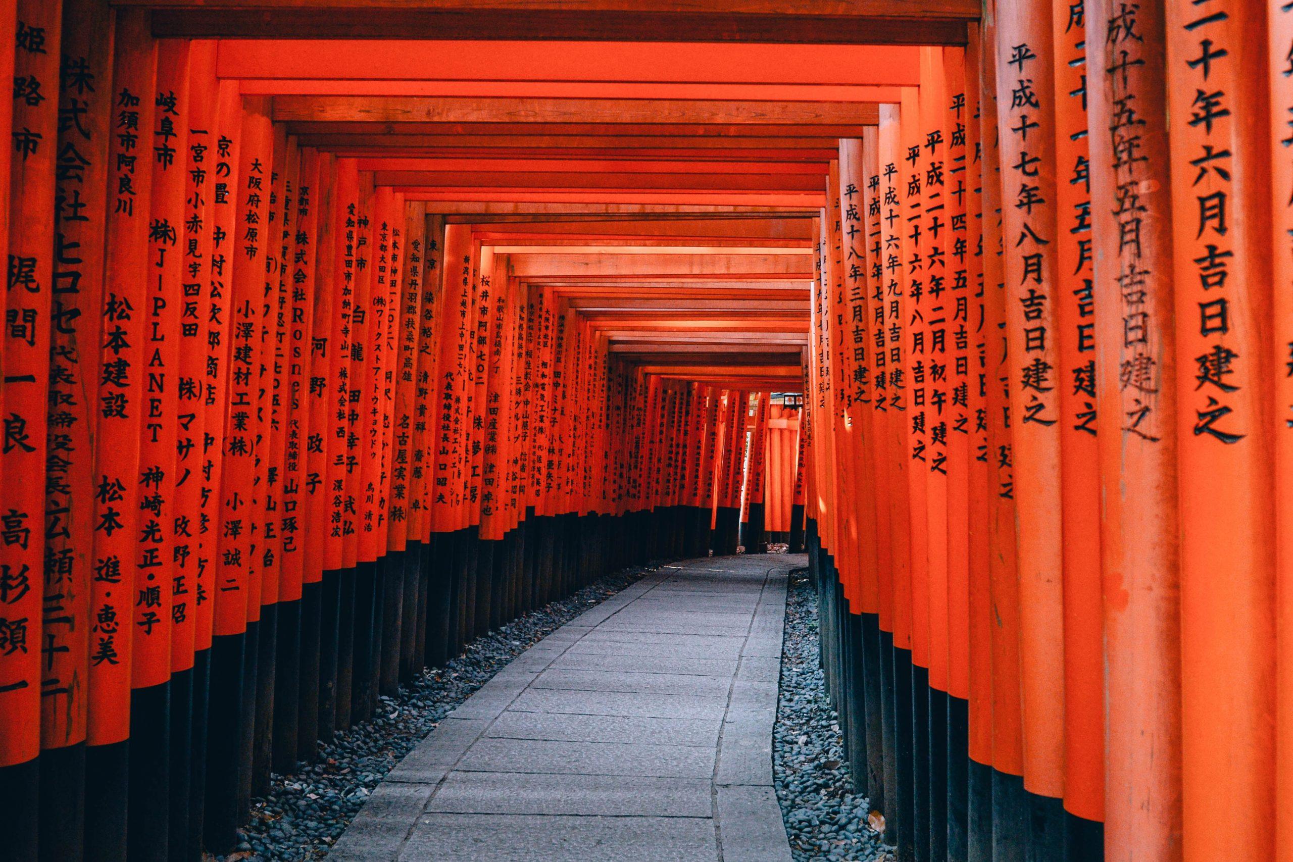 De heilige tempels van Kyoto, Japan
