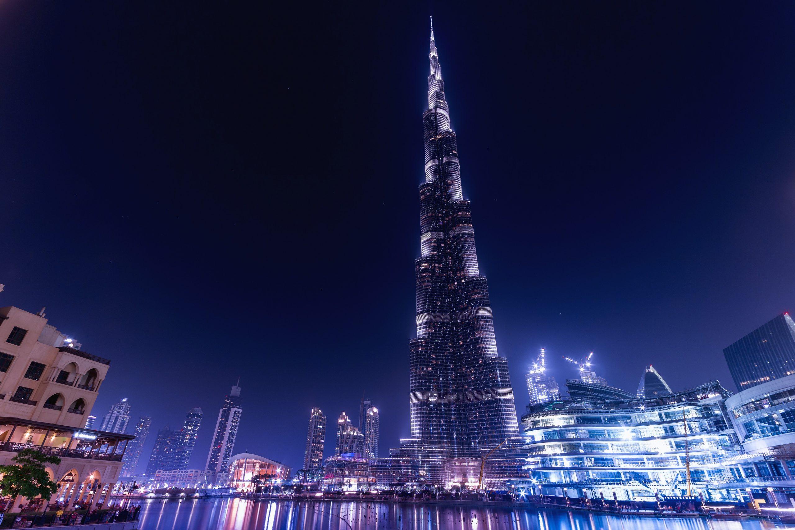 De Burj Khalifa, het hoogste gebouw ter wereld,