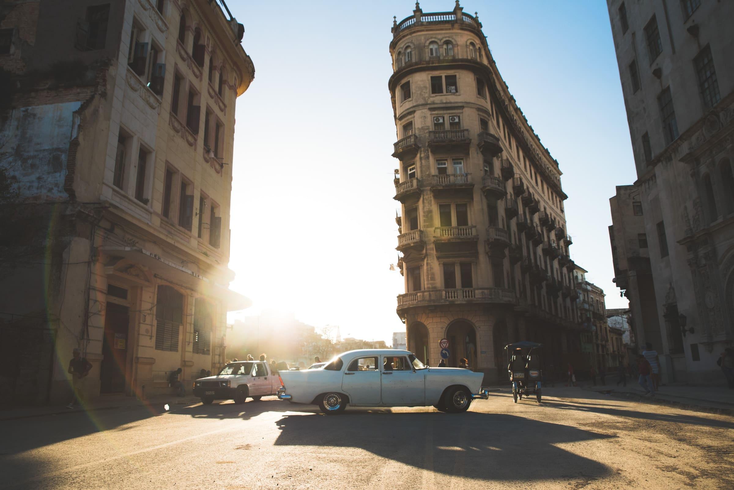 Havana net voor zonsondergang