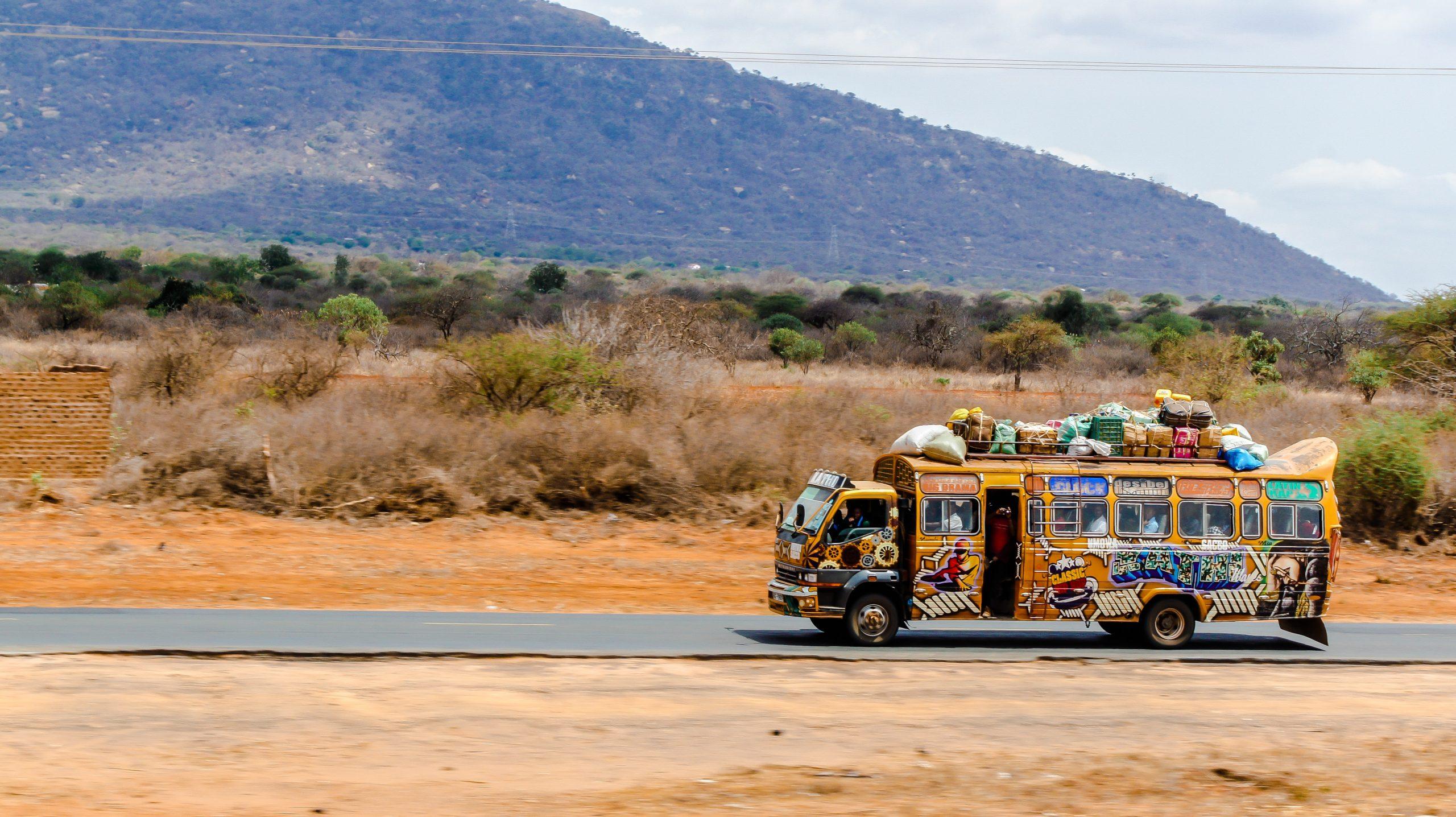 Een typische bus in Kenia