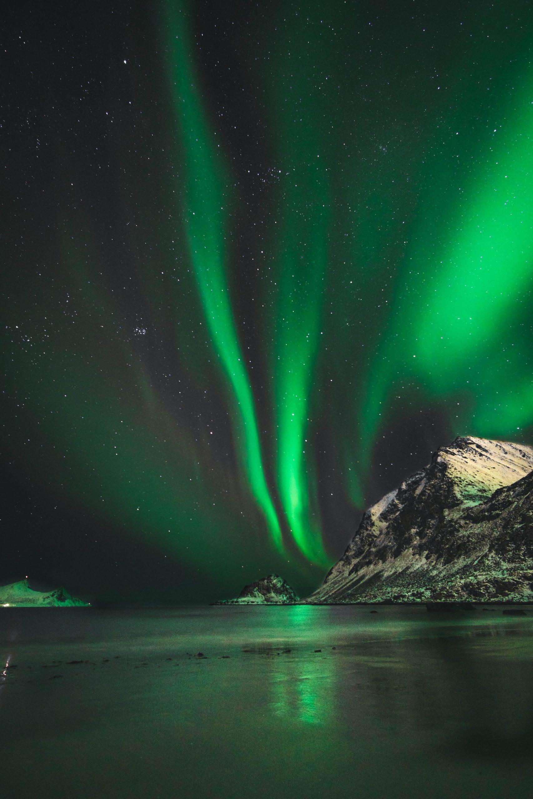 Noorderlicht in Lofoten, Noorwegen
