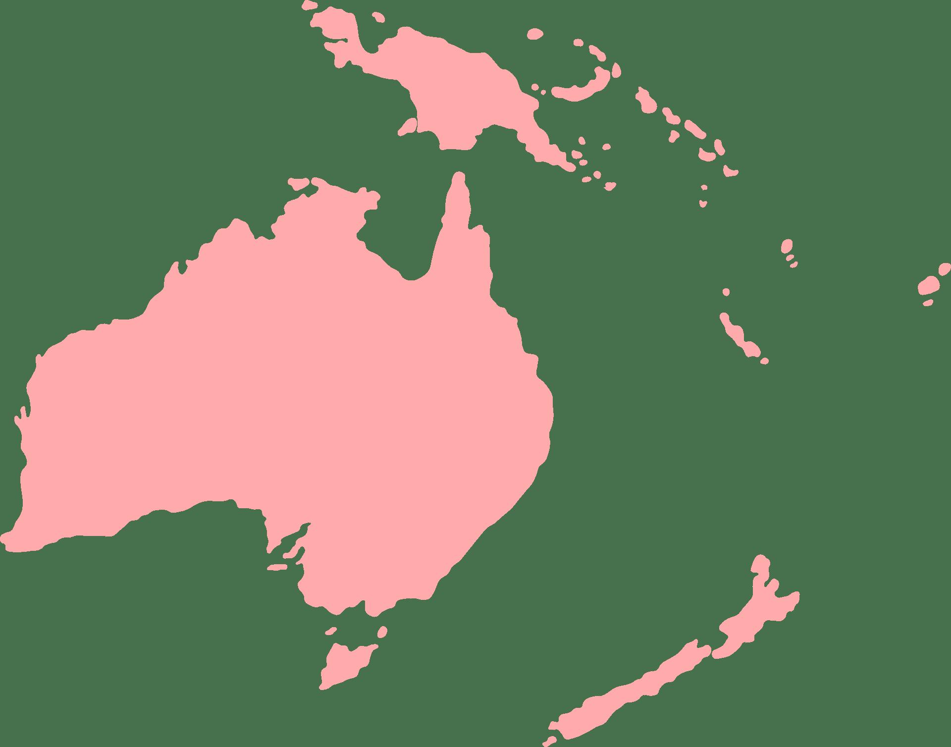 Het continent Oceanië
