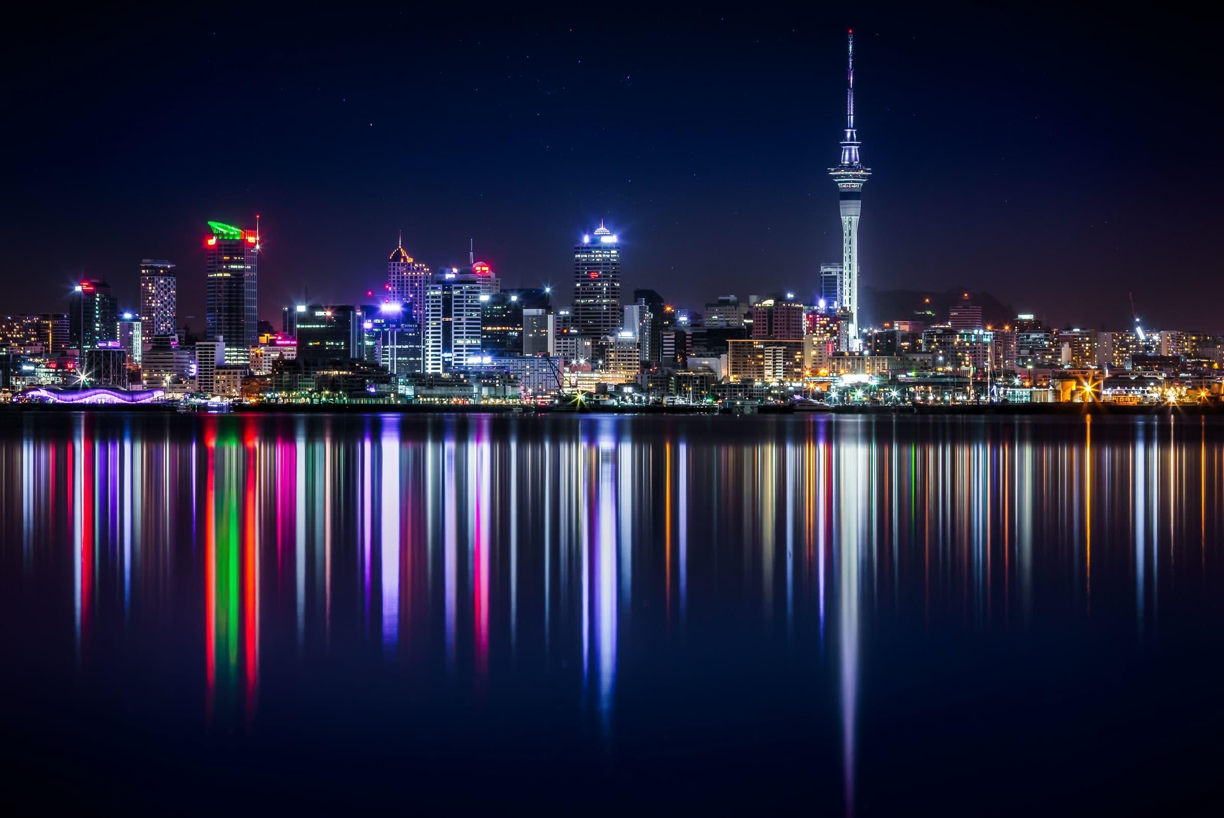 Skyline van Auckland, Nieuw-Zeeland
