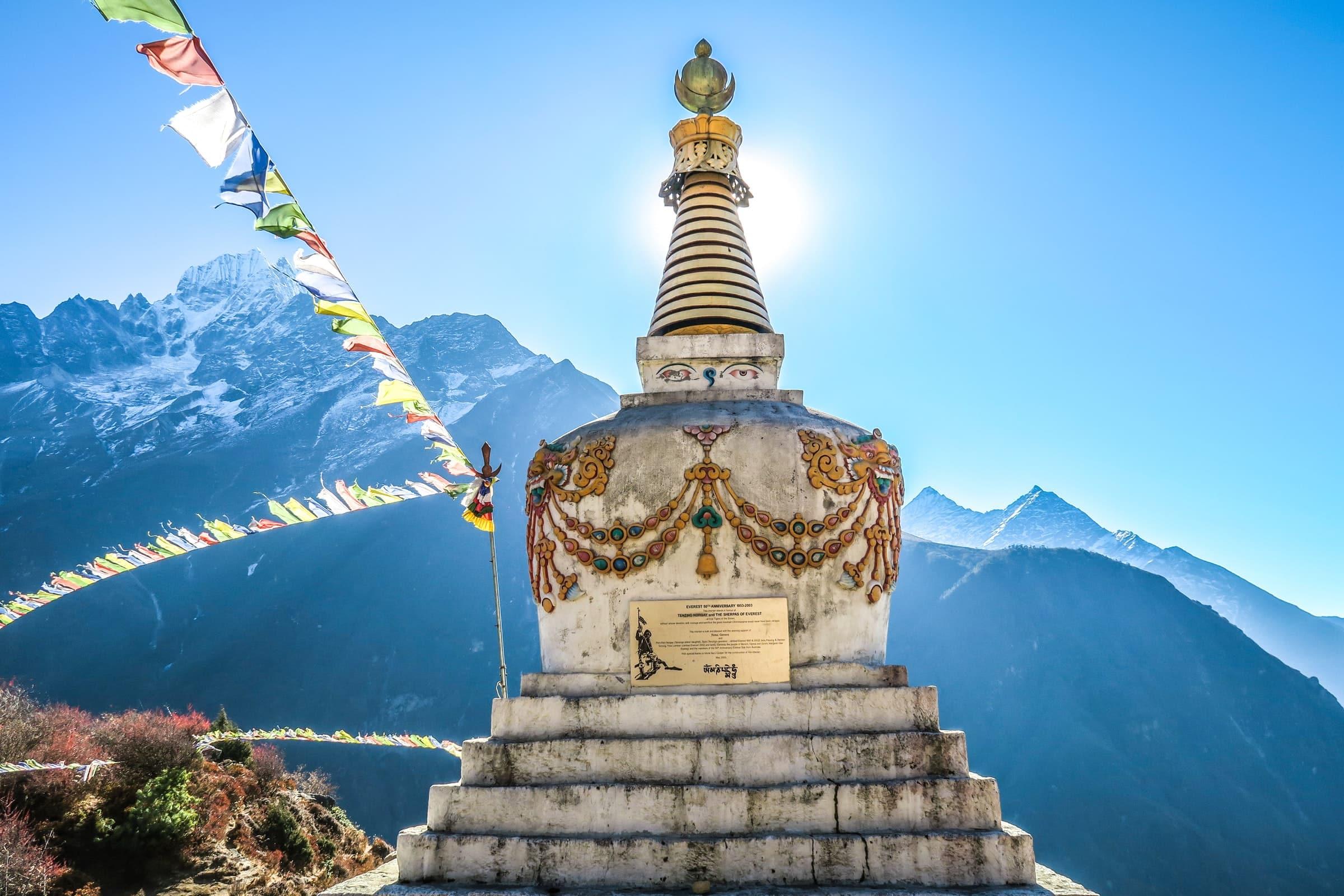 Gebedsvlaggen op het dak van de wereld, Tibet