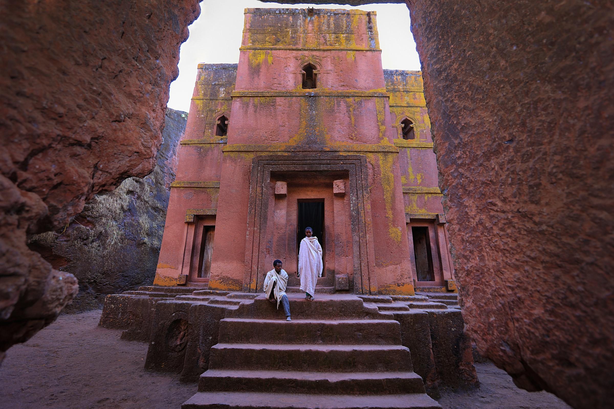 Must sees in Lalibela, Ethiopië, Afrika: De Bet Giyorgis kerk