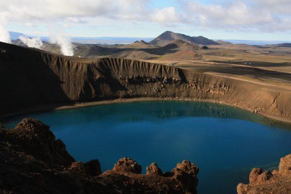 Krafla, vulkanen in IJsland