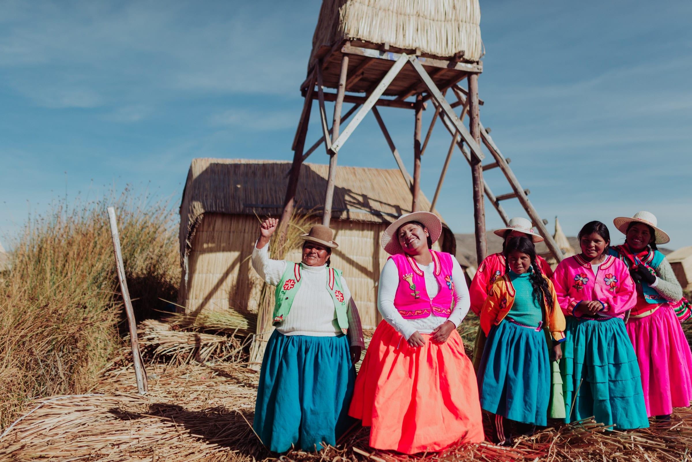 Lokale bevolking, Lake Titicaca