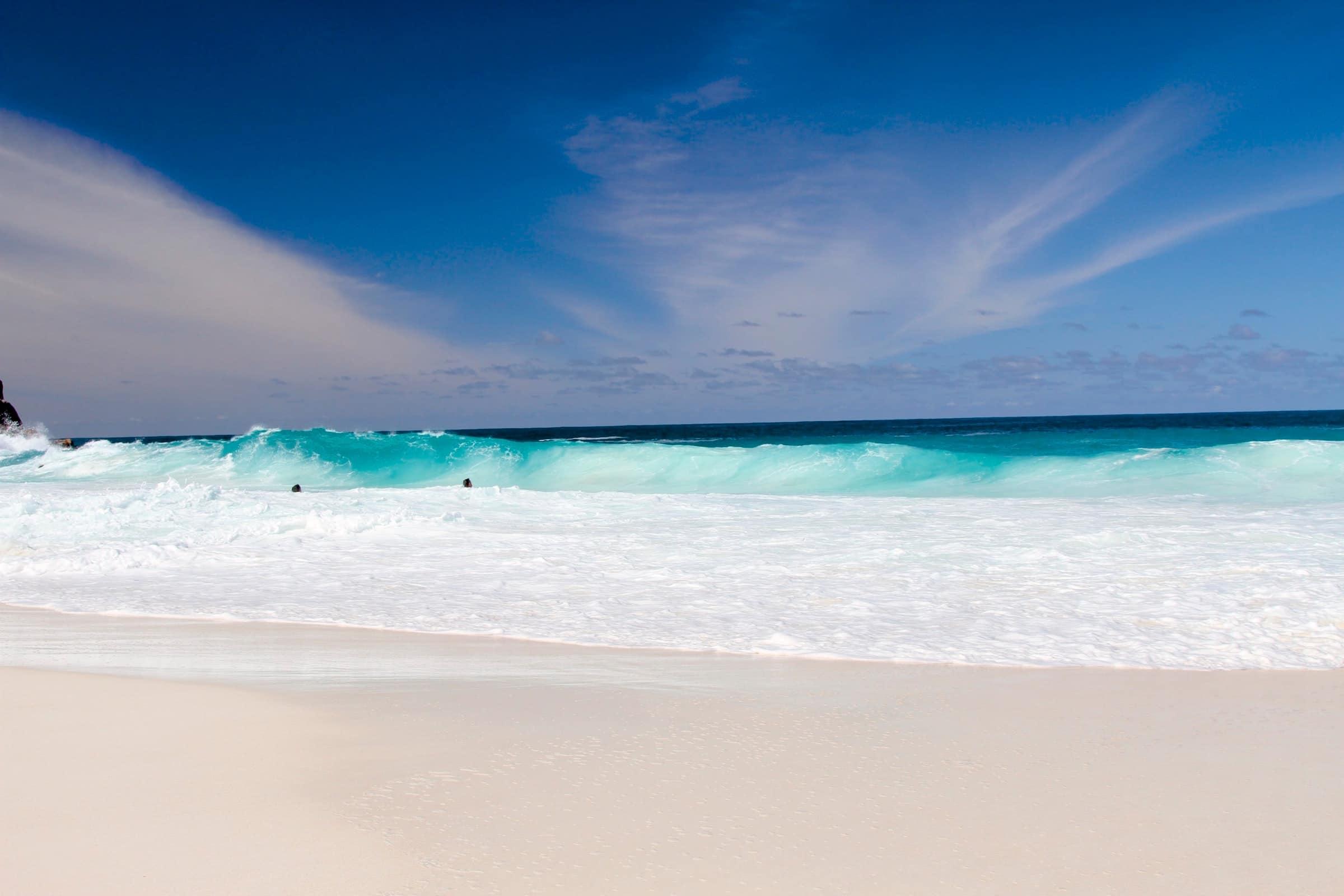Witte stranden op de Seychellen