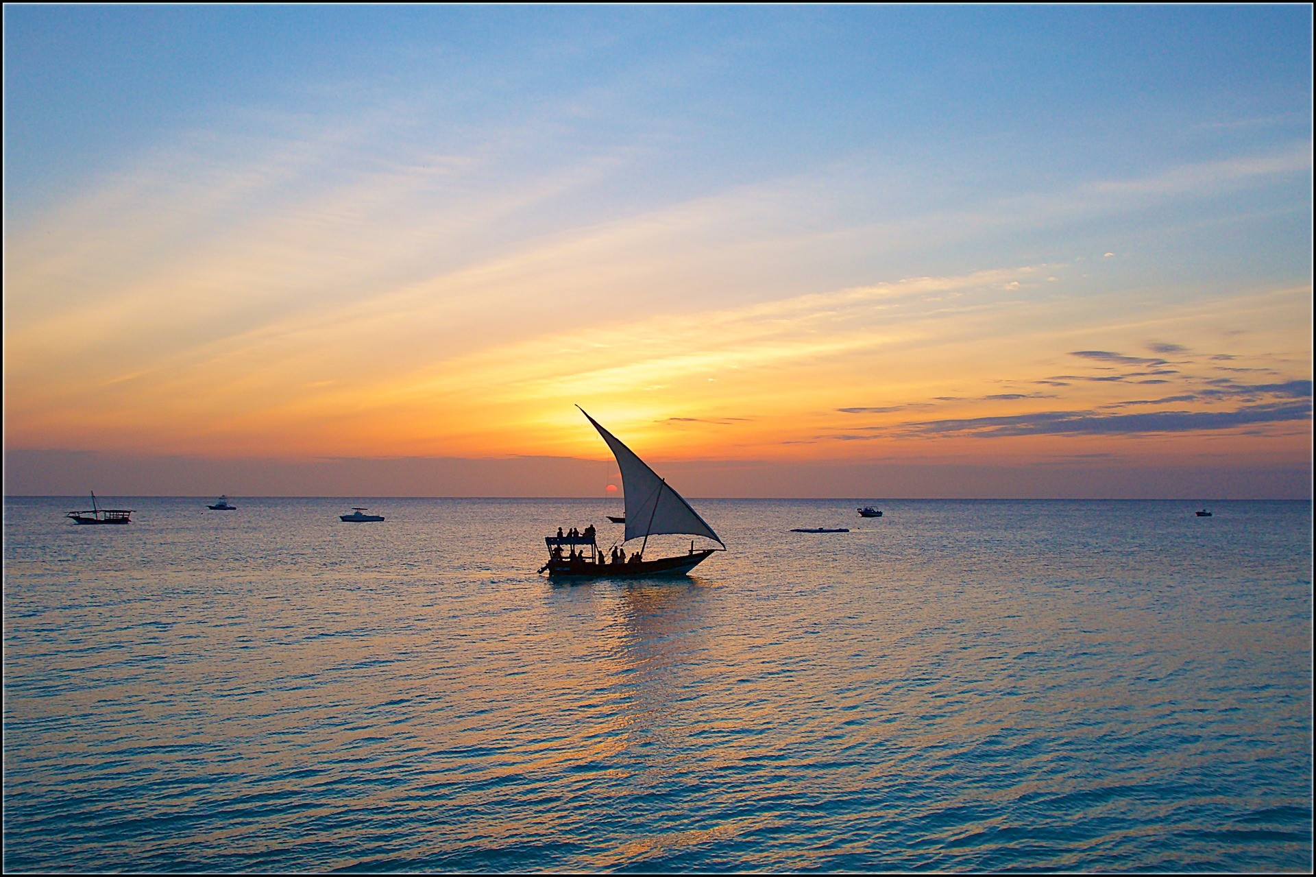 Visserbootjes, Zanzibar, Tanzania