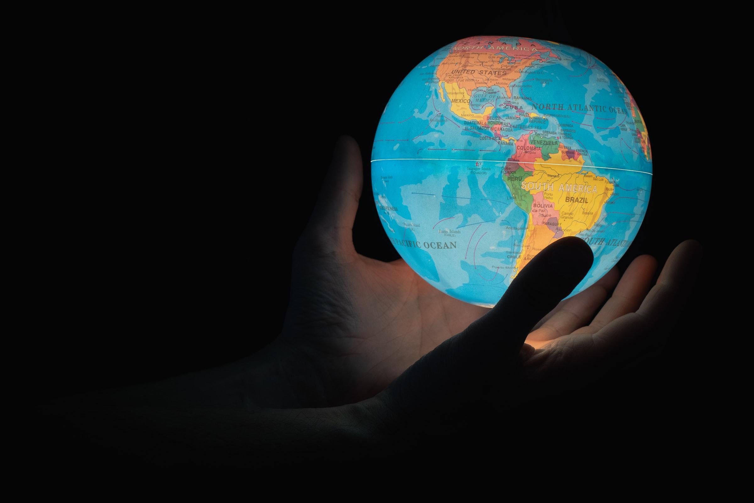 Wereldbol | Alle landen ter wereld