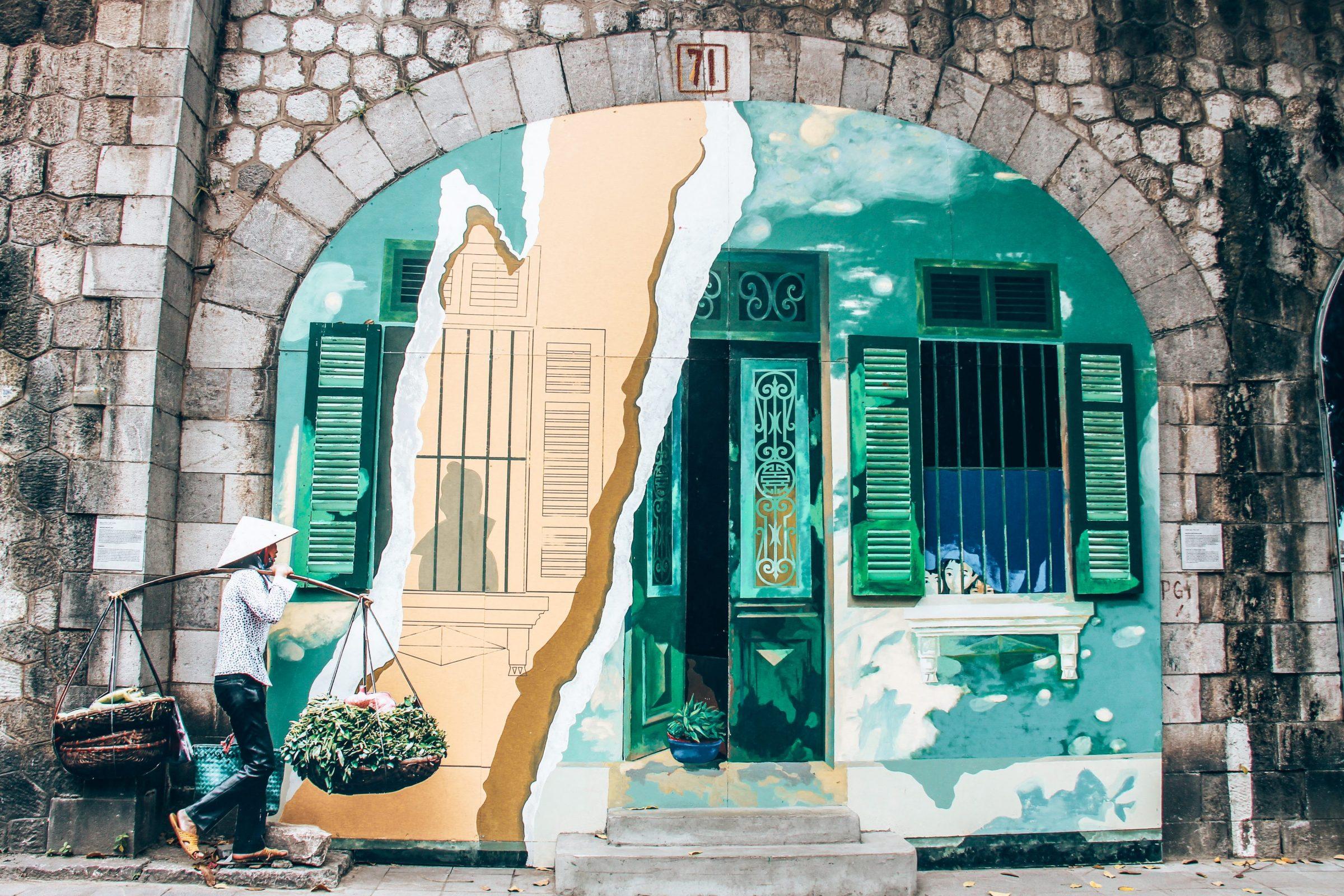 Nog een prachtig schilderij in Phung Hung Street