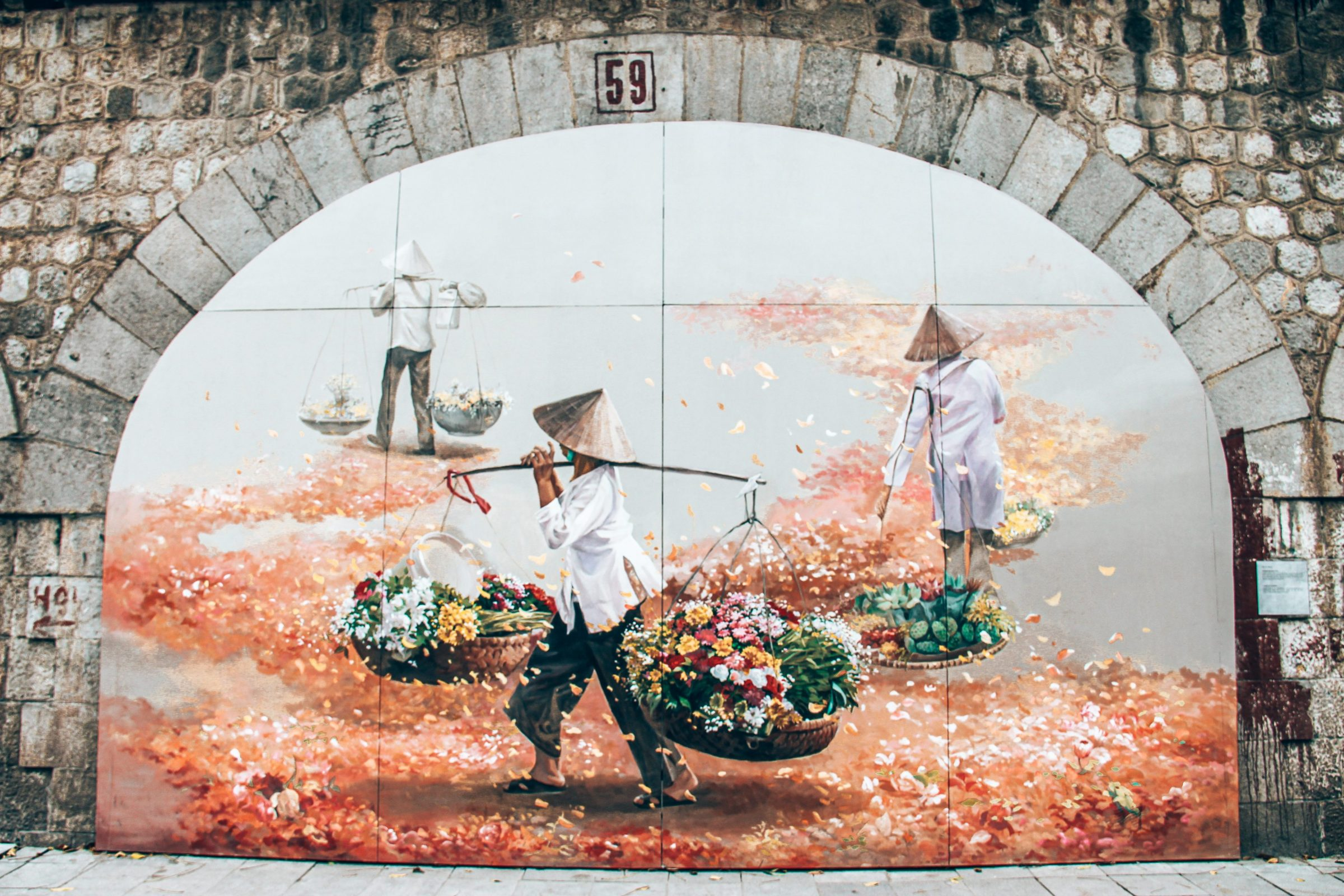 Streetart in Hanoi - Prachtige schilderingen