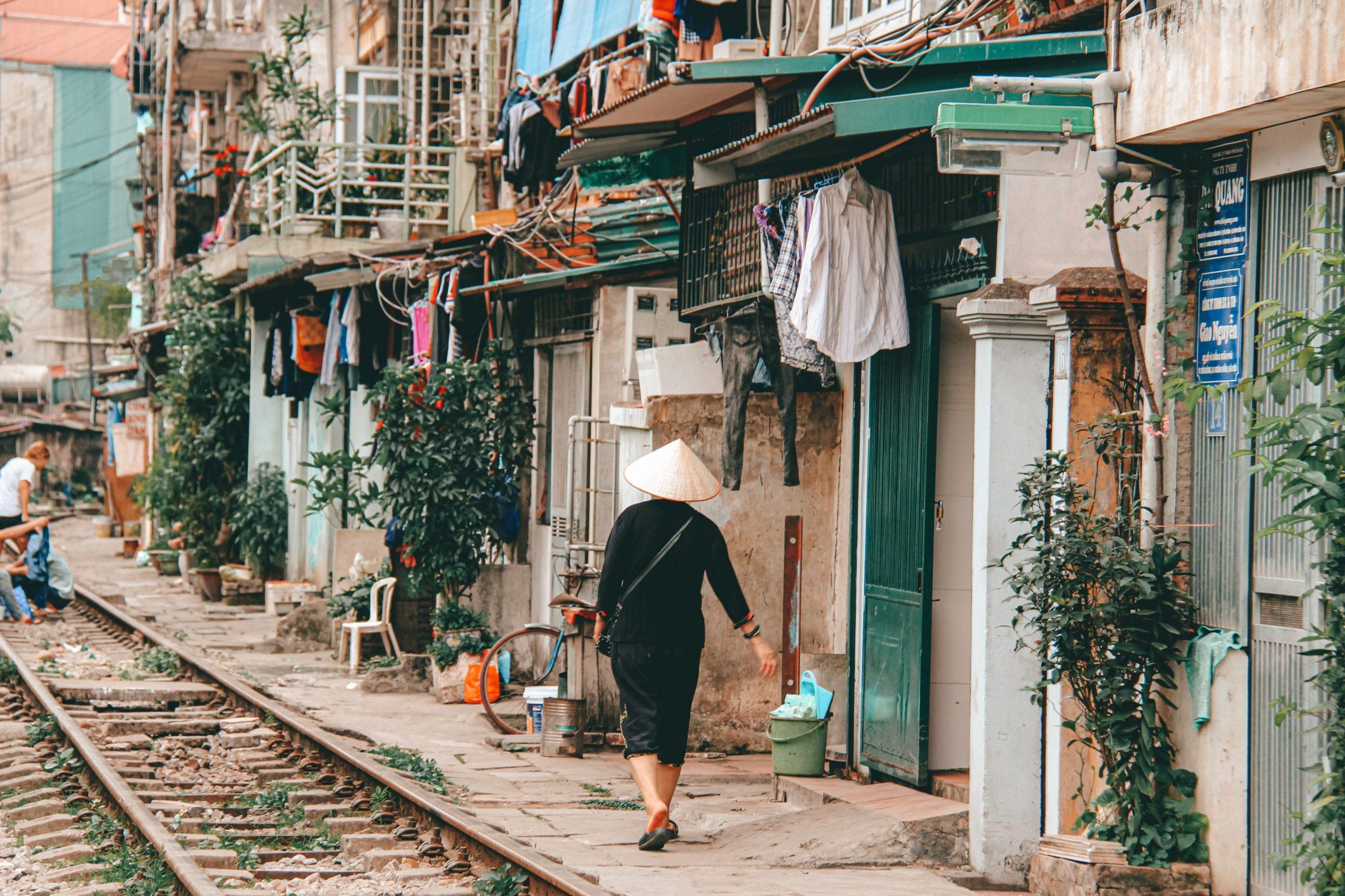 Train street van Hanoi