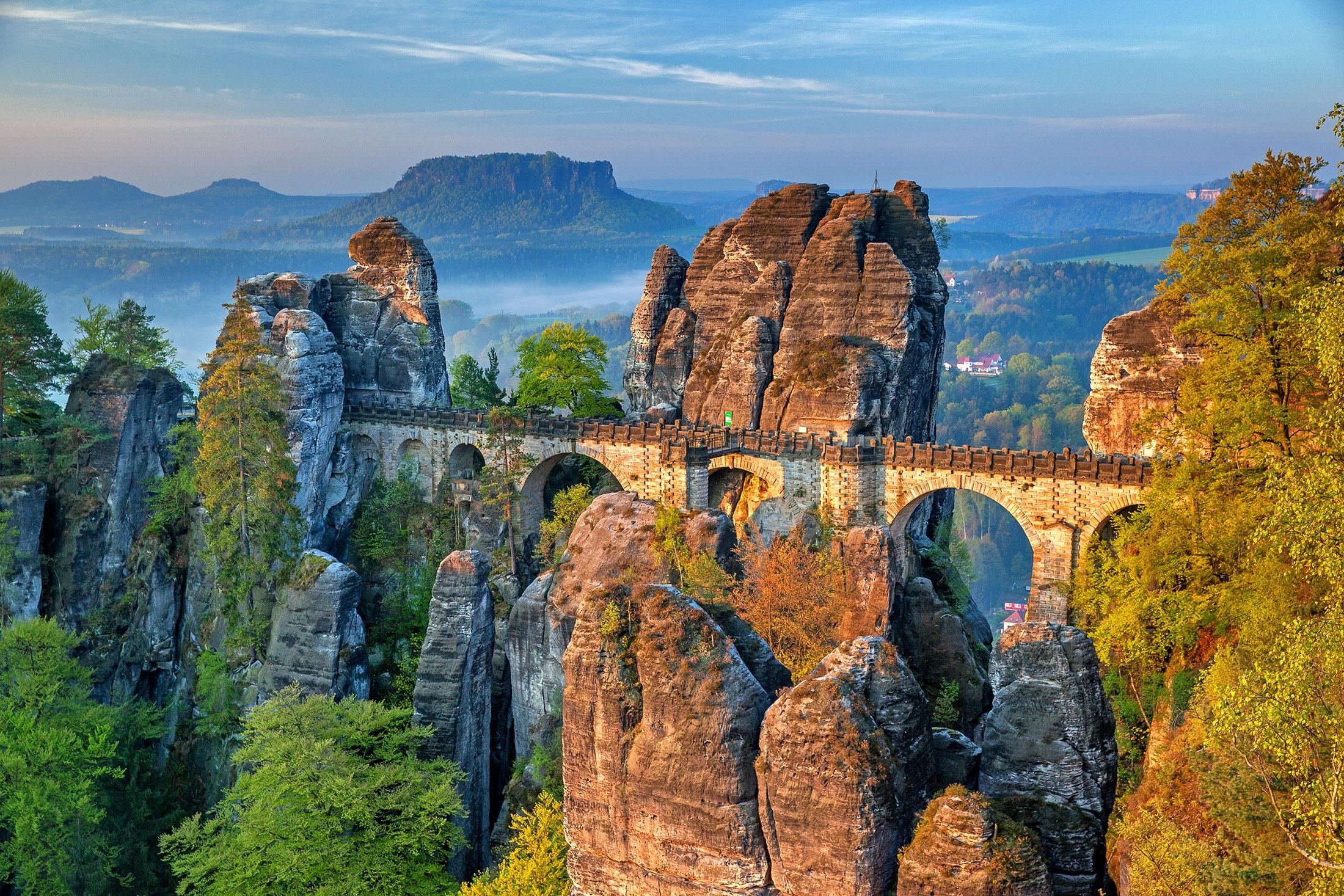Bastei brug | Saxon Switzerland National Park | Duitsland