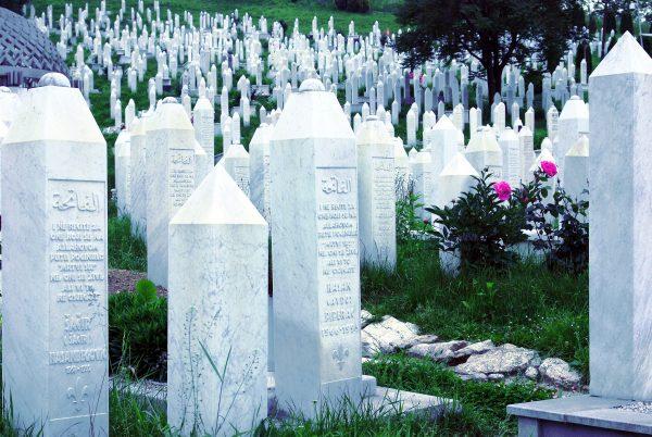 Begraafplaats om de doden van de genocide te herdenken