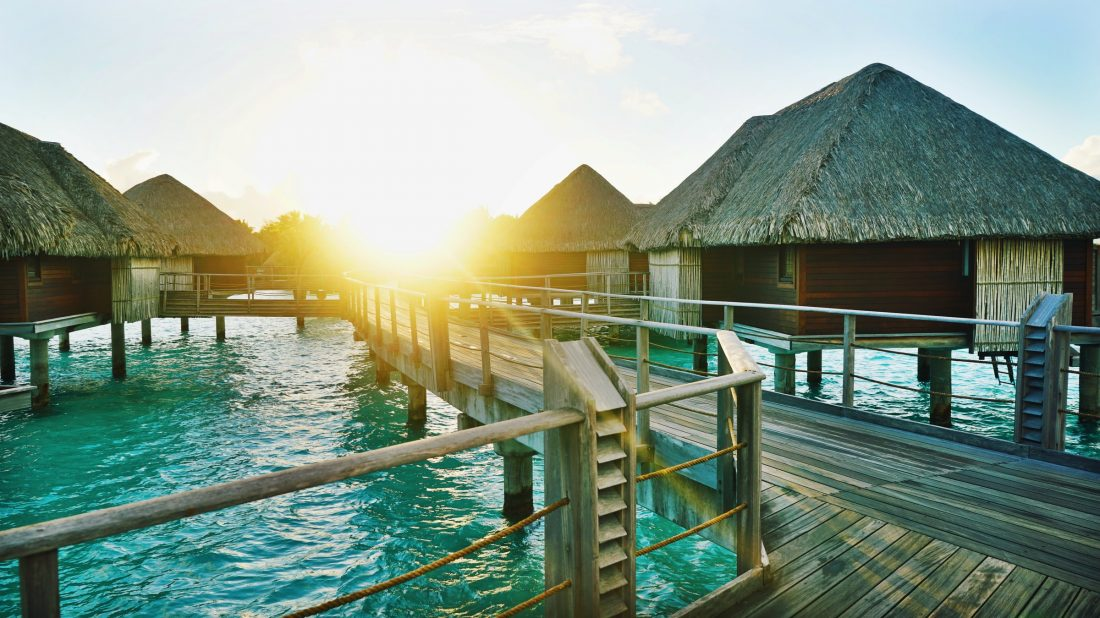 Zonsondergang in Tahiti