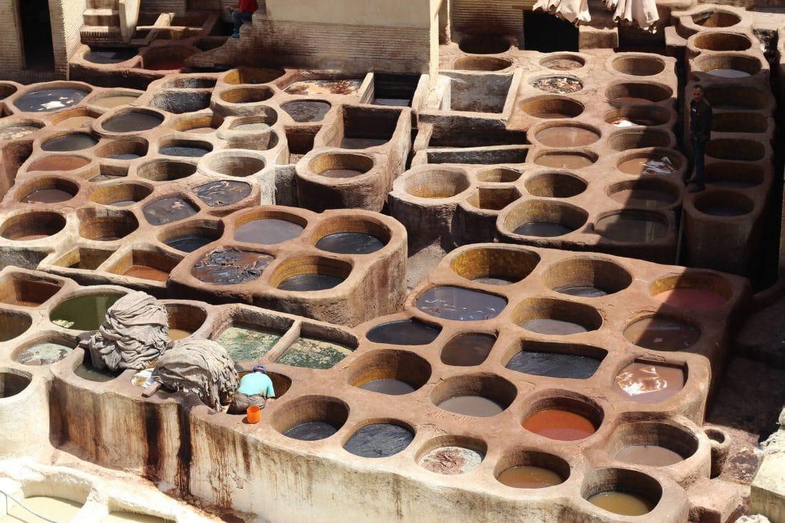 De tanneries in Fez - Marokko