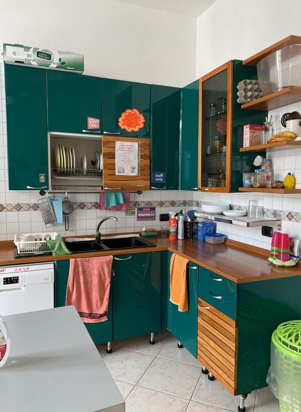 Keuken Hostel Mancini | Verblijf in Napels