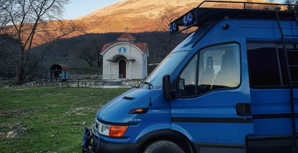 vanlife kamperen albanie