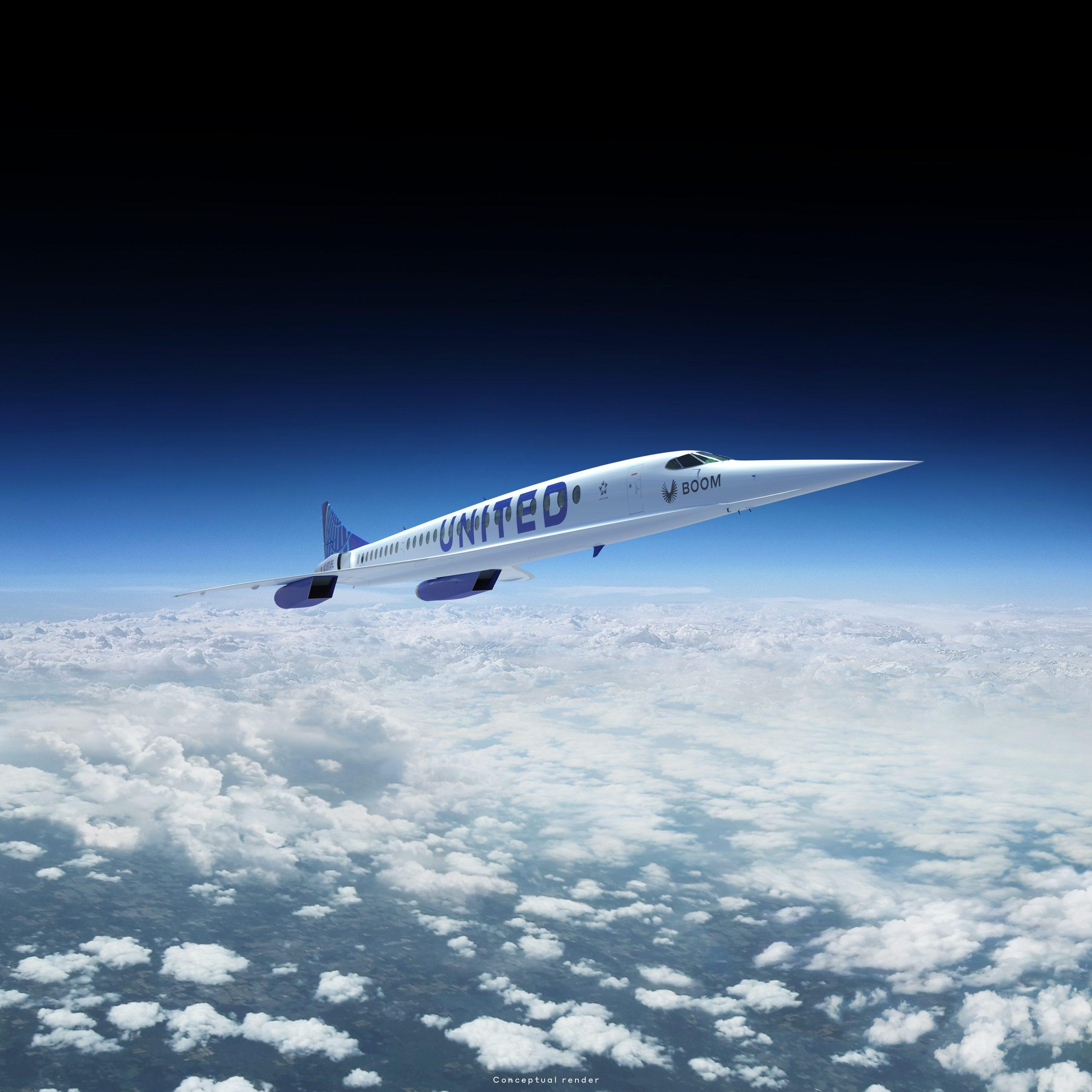 Boom supersonisch vliegtuig United Airlines - Overture