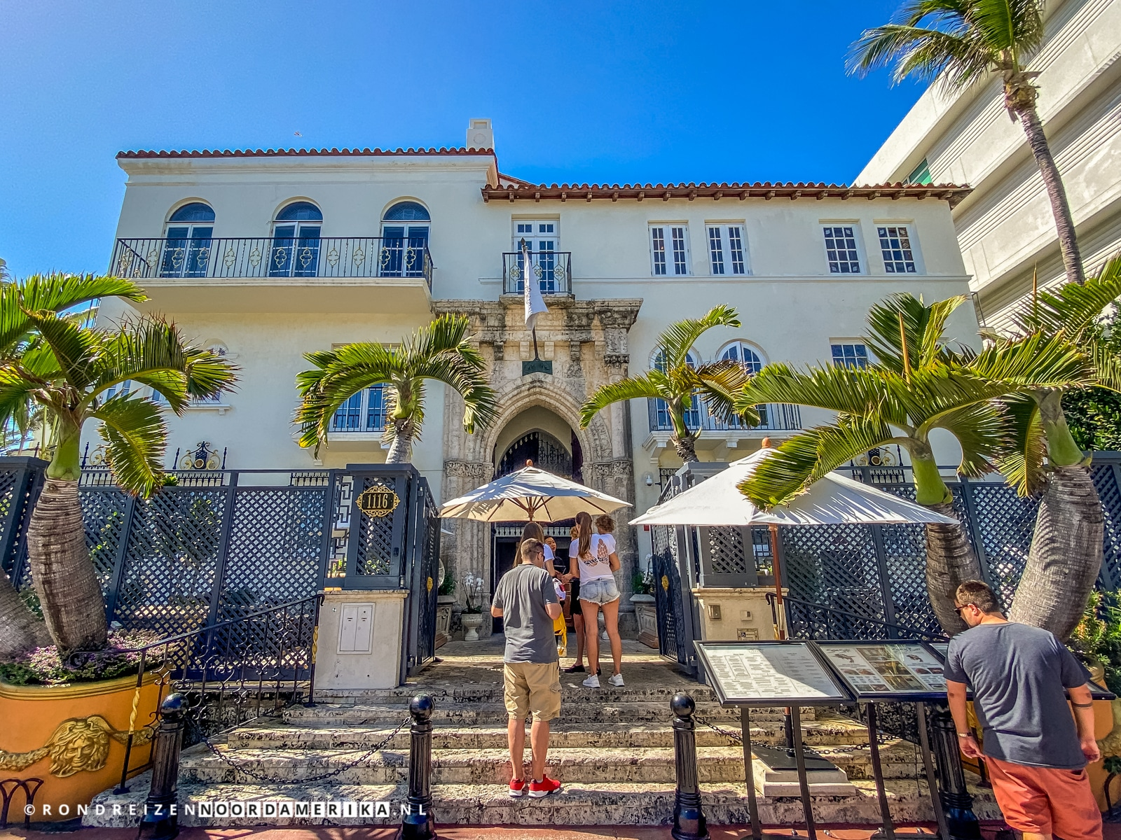 Versace Mansion aan 1116 Ocean Drive Miami Beach