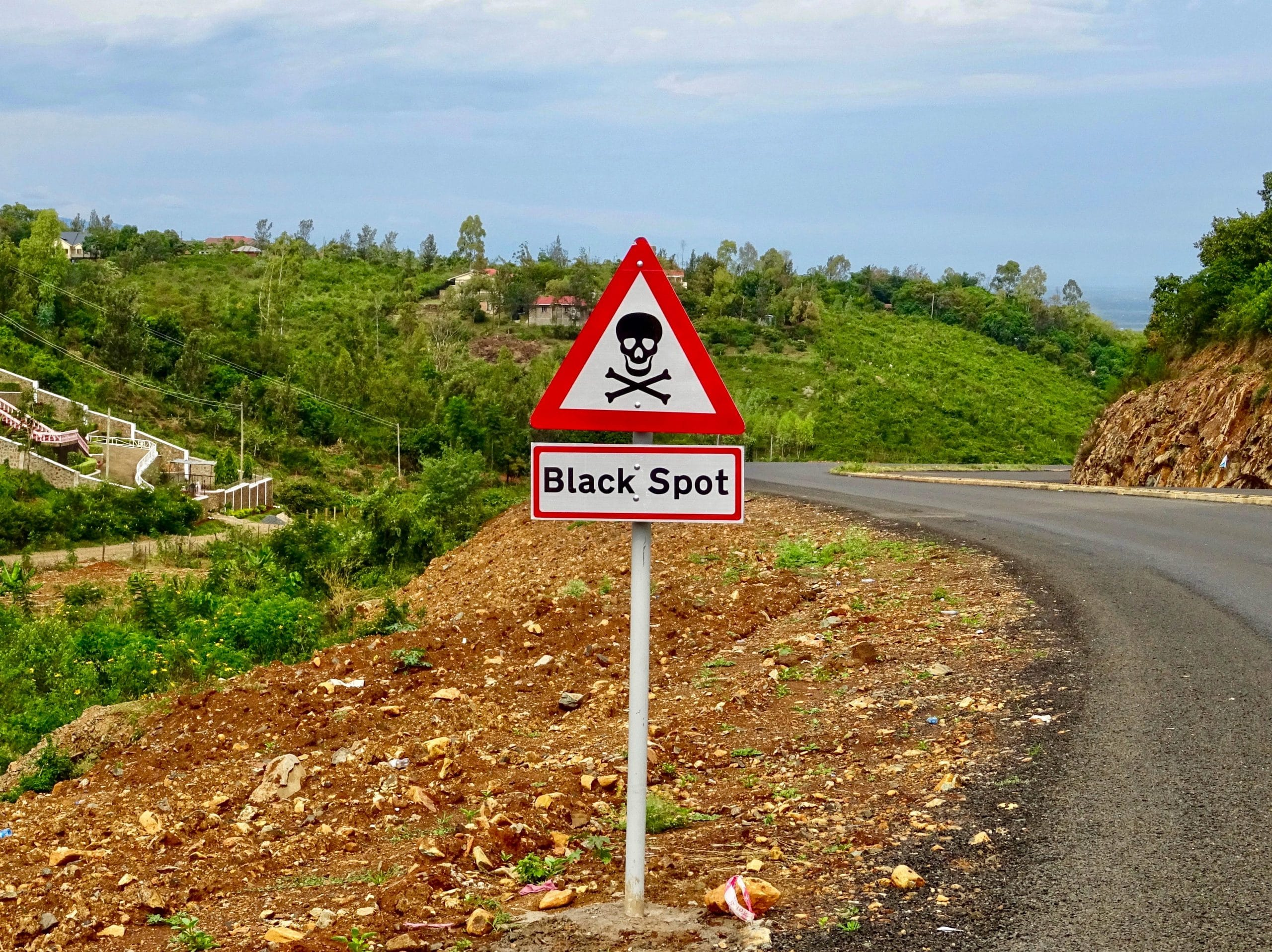 Black spot voor de vallei waarin Kisumu ligt