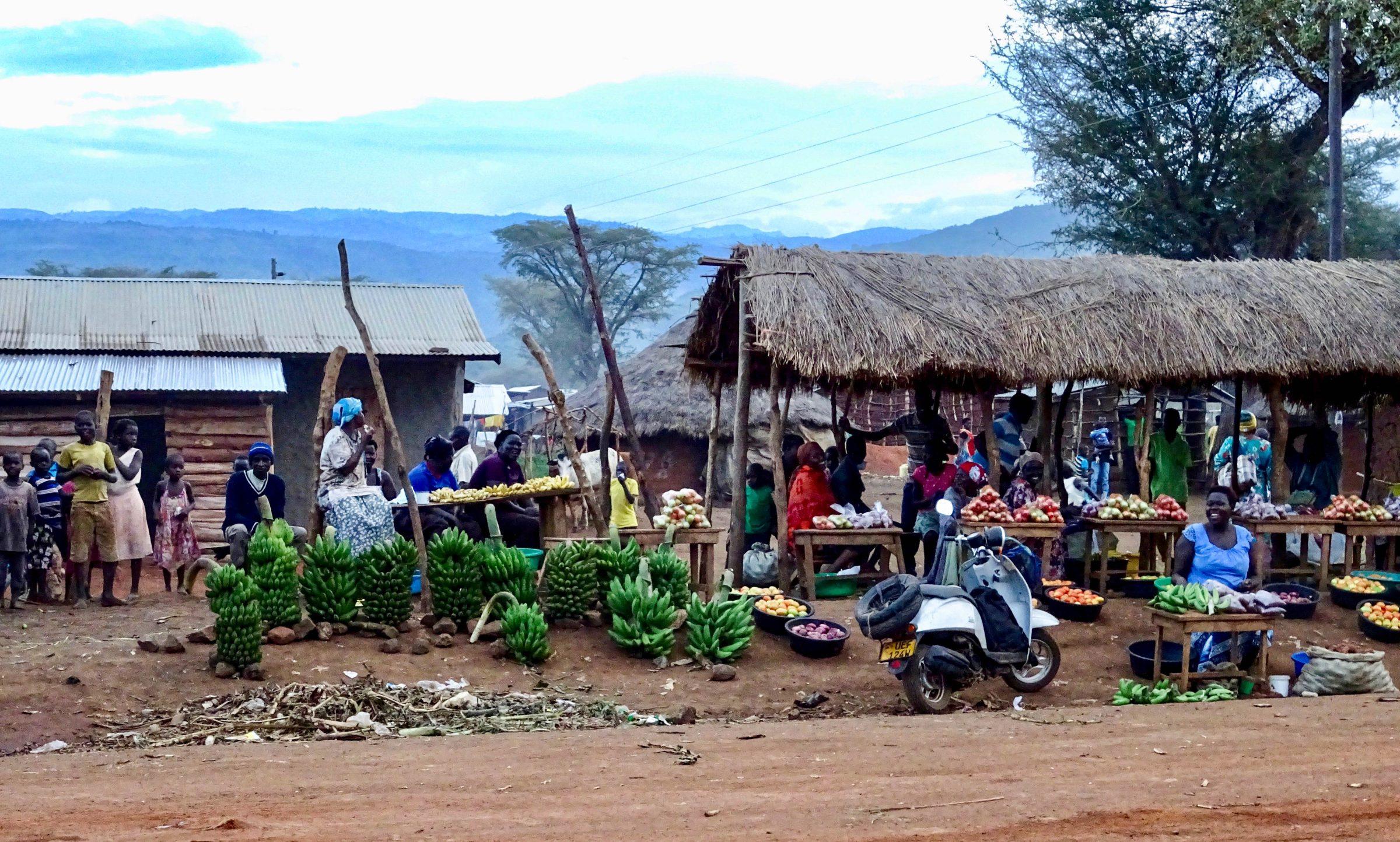Markt langs de weg in Tabagonyi