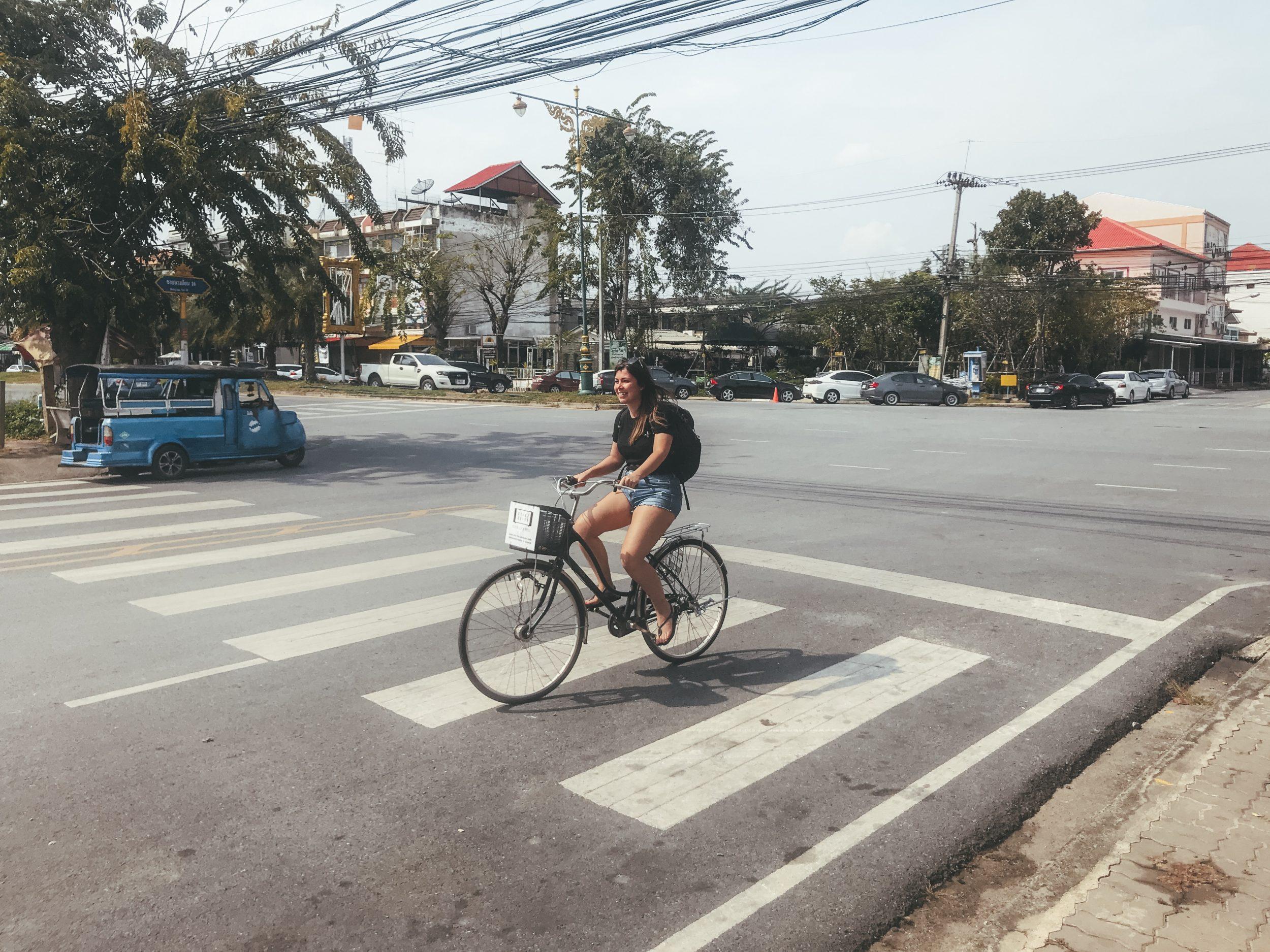 Fietsen in Ayutthaya