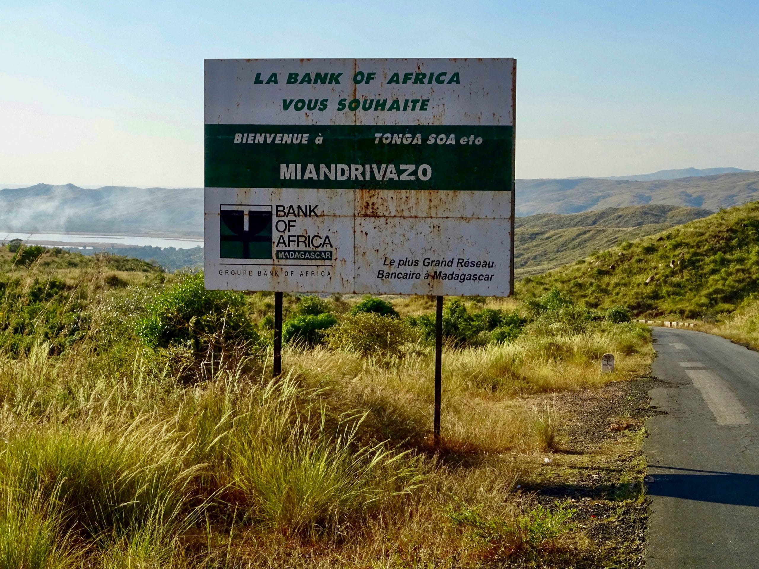 Bank of Africa billboard welkom in Miandrivazo