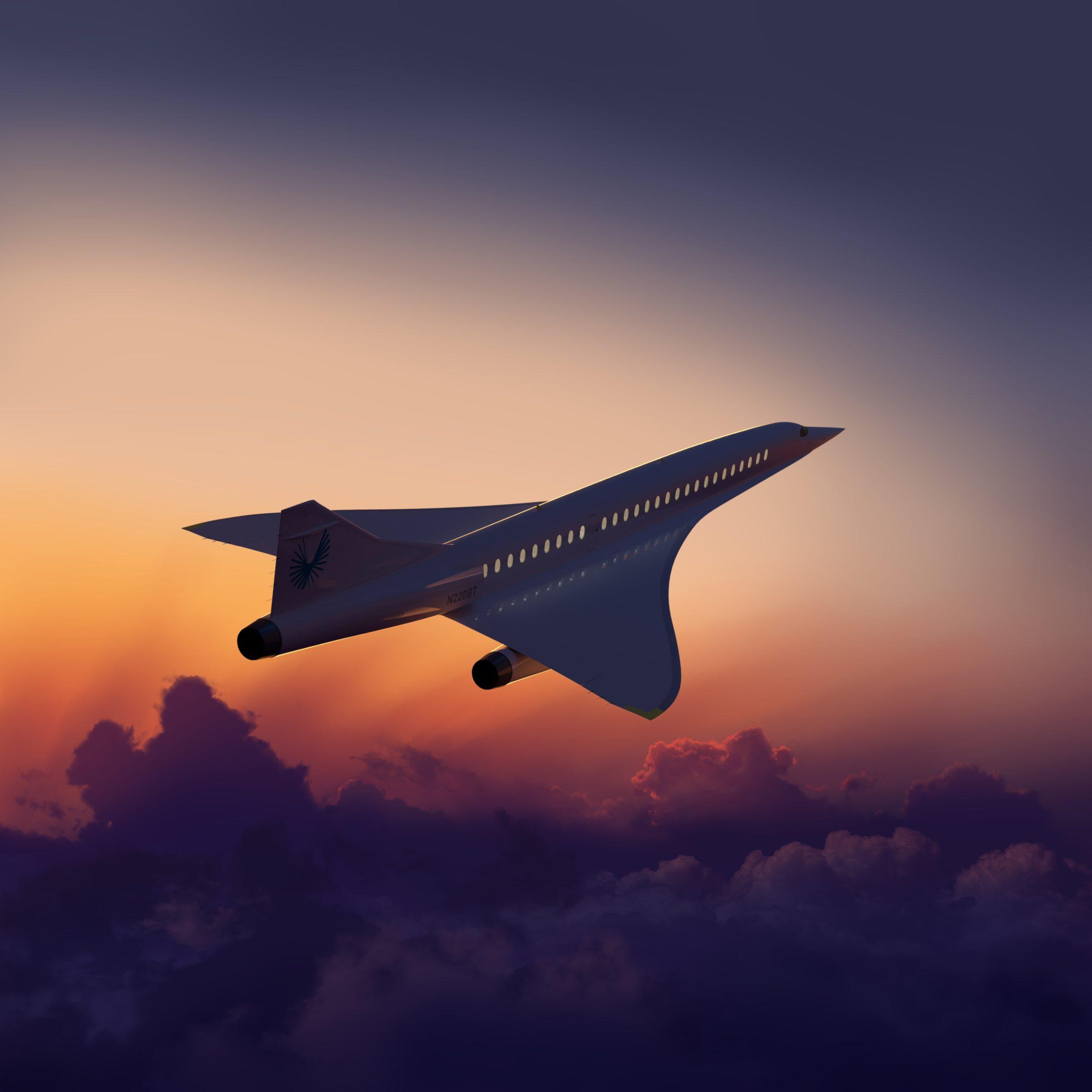 Het supersonische vliegtuig Overture