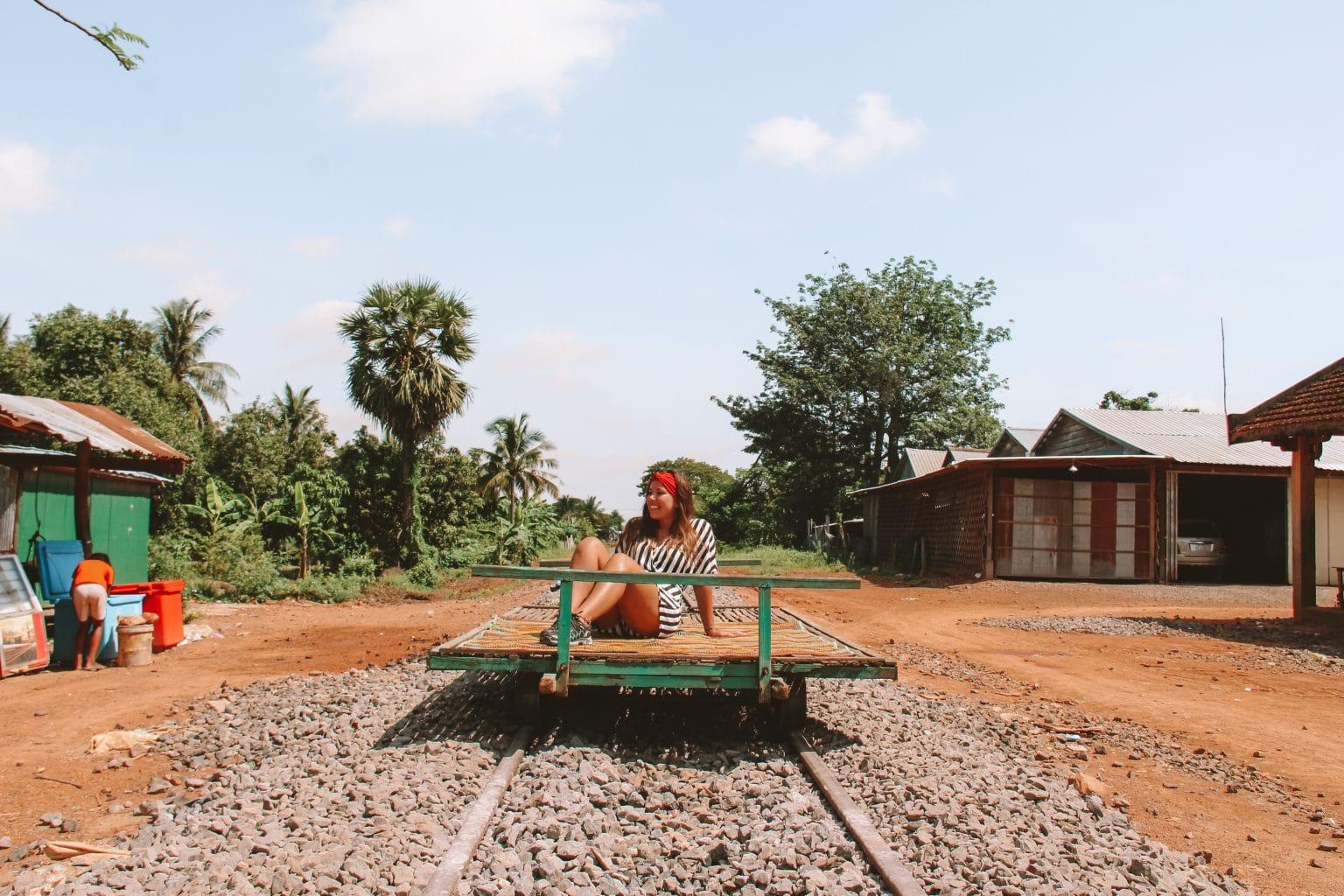 Battambang Bamboe trein