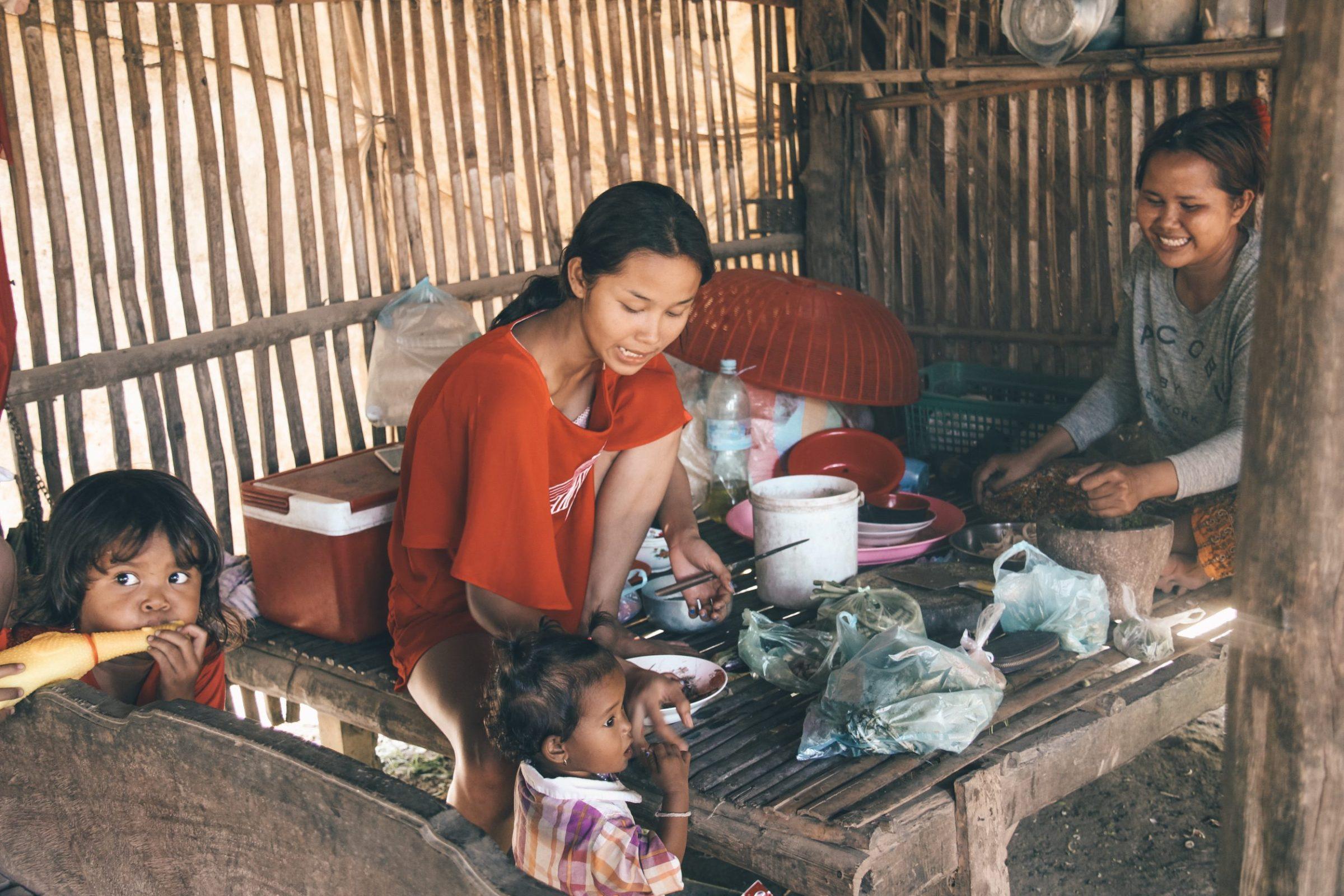Battambang locals Cambodja