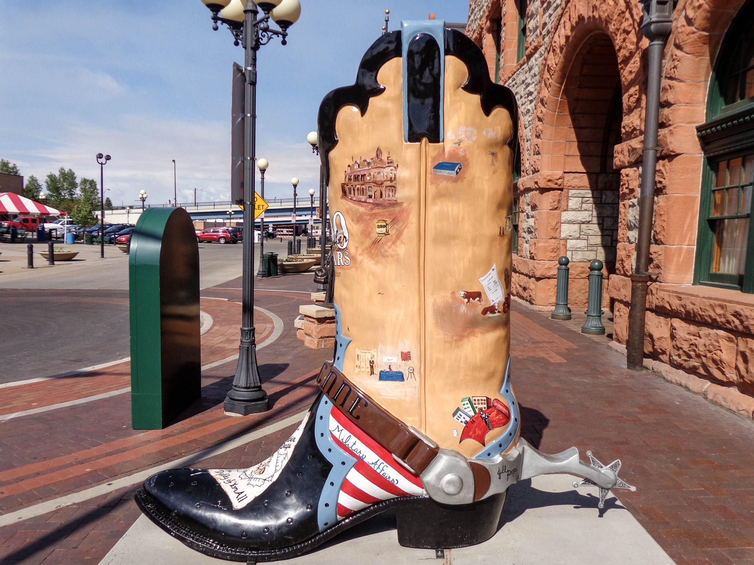 Een cowboylaars in Cheyenne