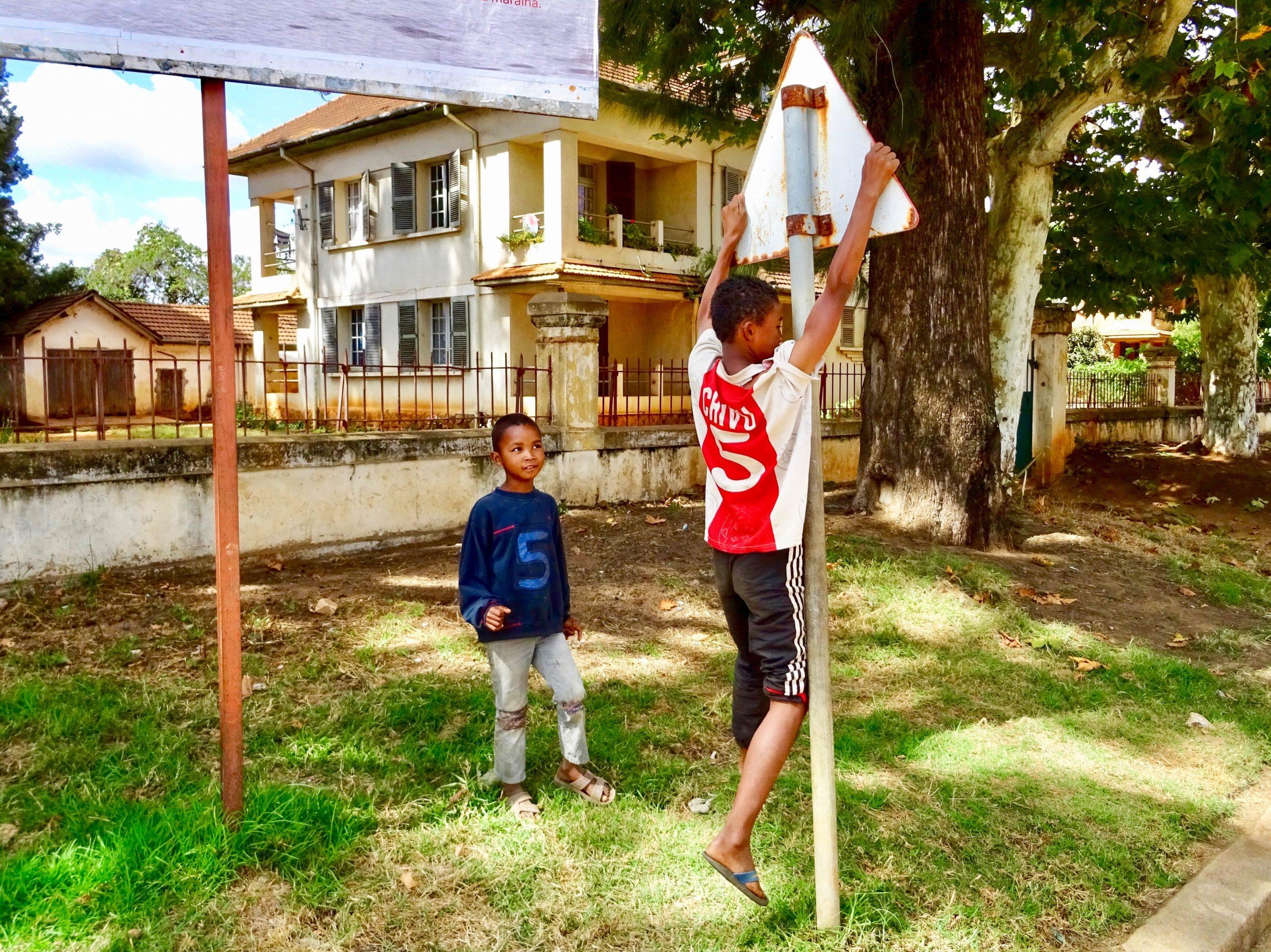 Chivu in actie in Antsirabe