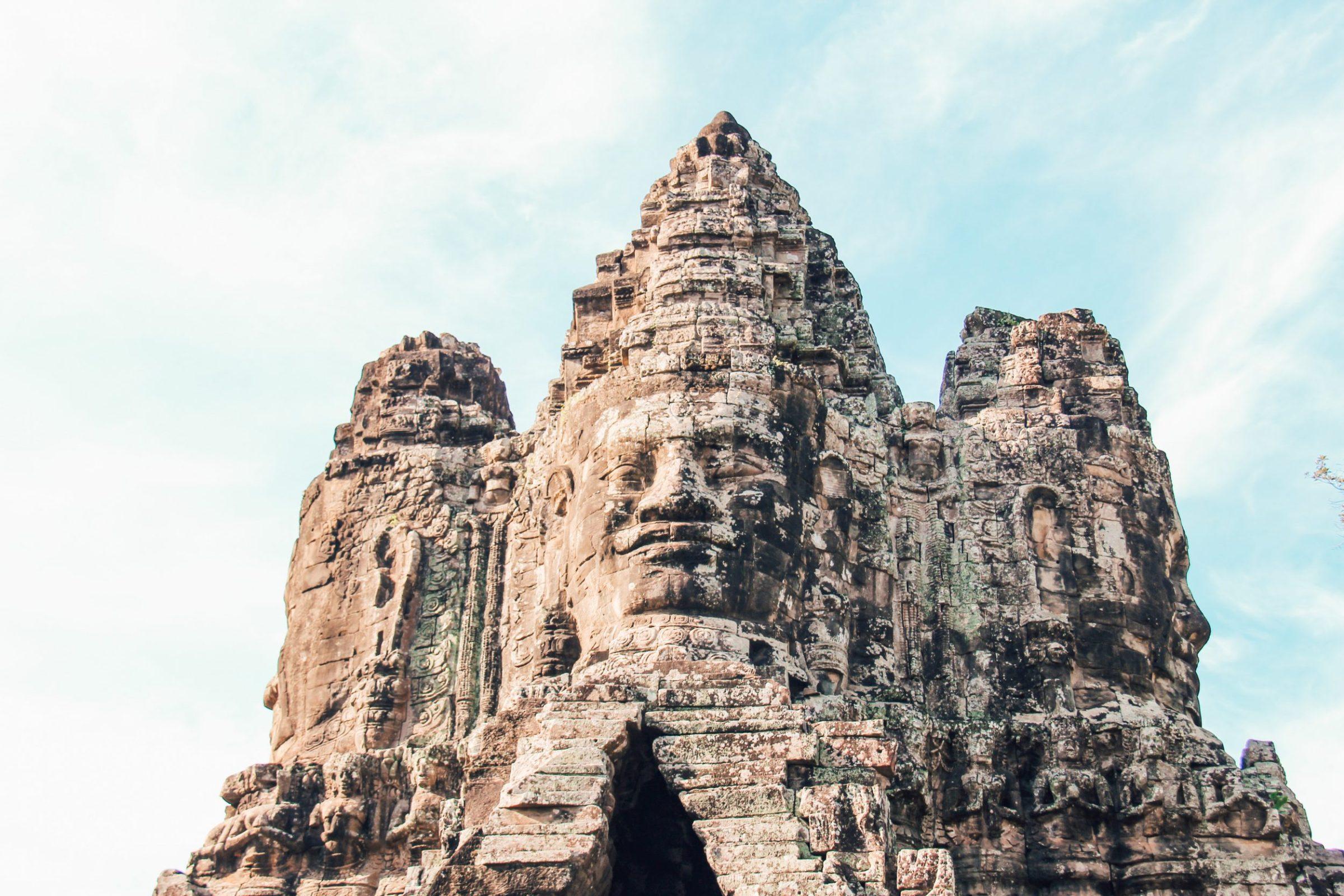 De poort van Angkor, Cambodja