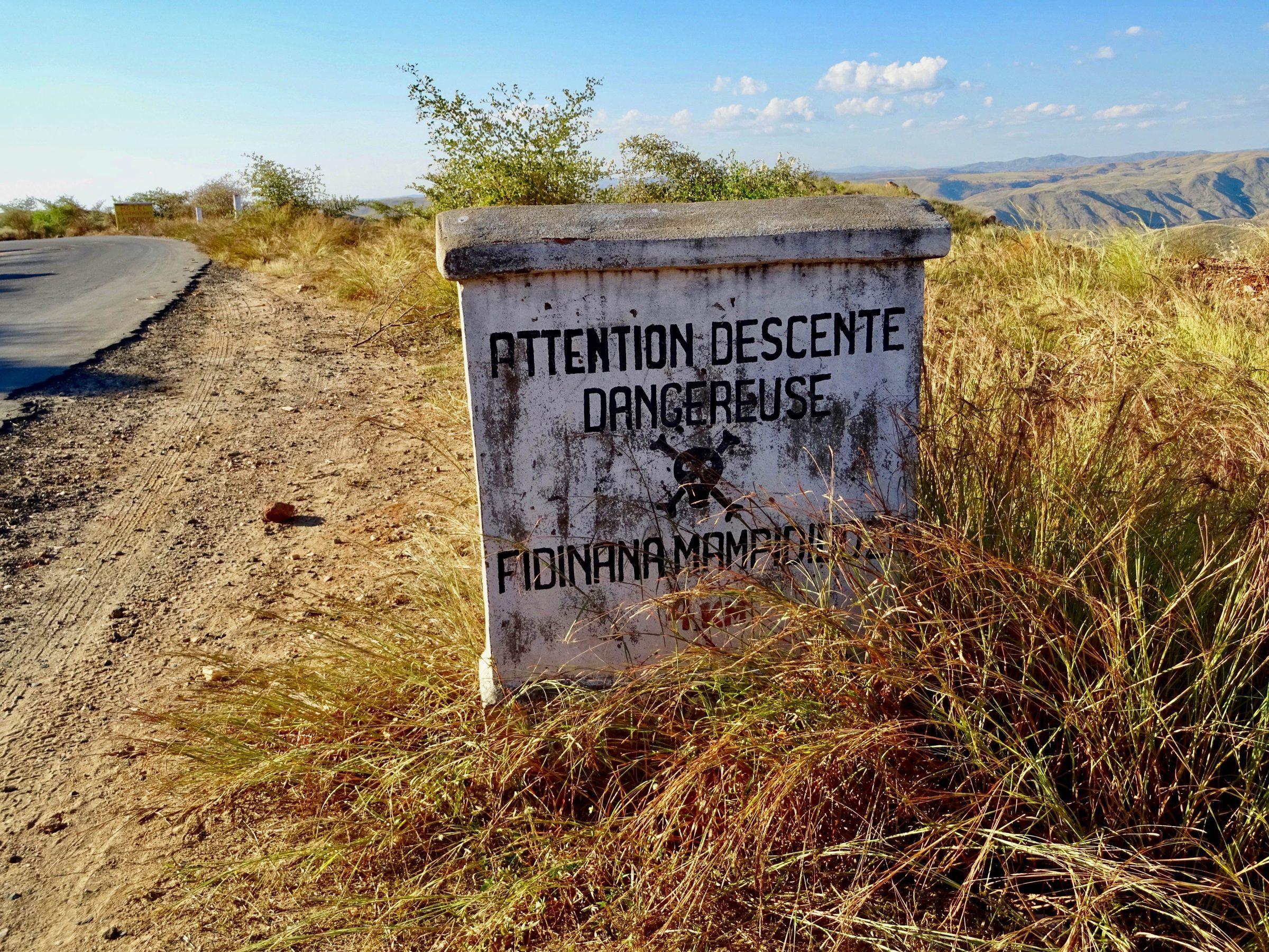 Een gevaarlijke afdaling richting Miandrivazo