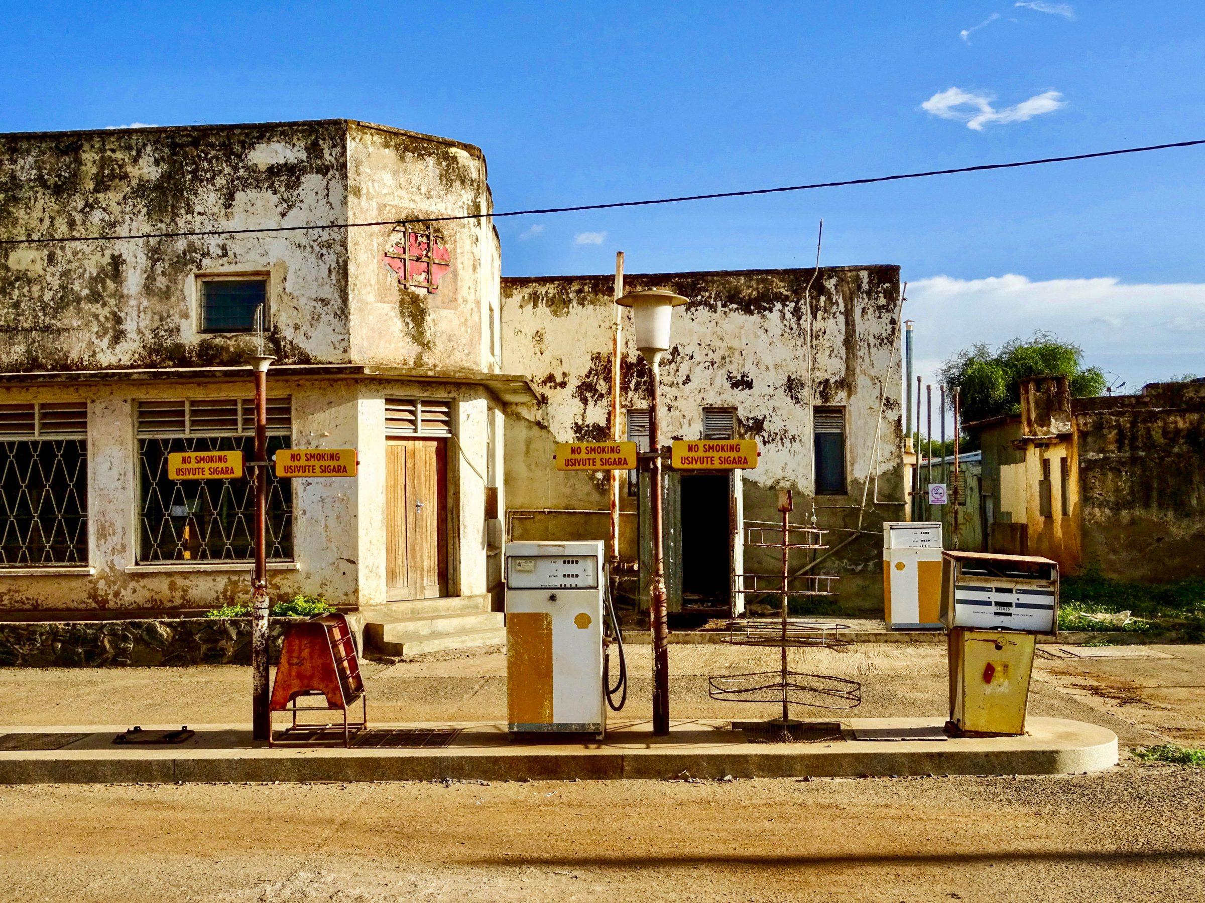 Een 'antiek' Shell Station in Moroto