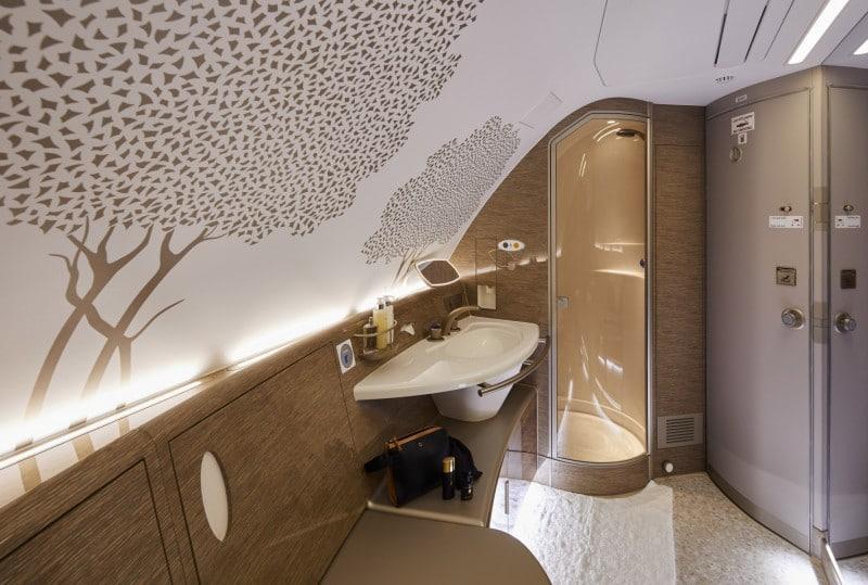 Emirates airbus a380 douche en spa