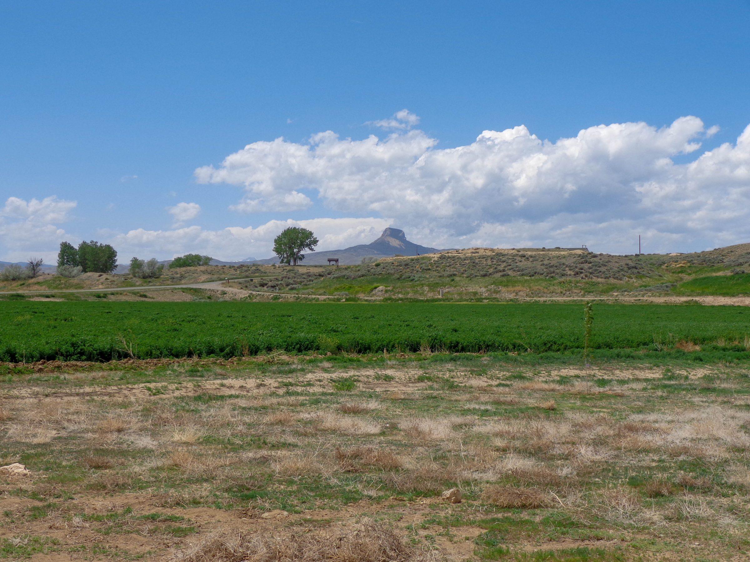 De desolate omgeving van Heart Mountain