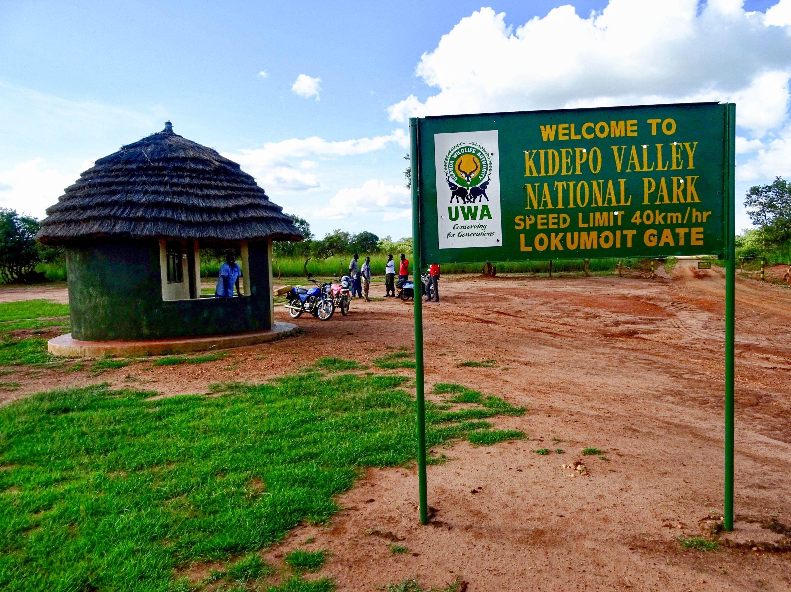 Welkomstbord Kidepo Valley National Park