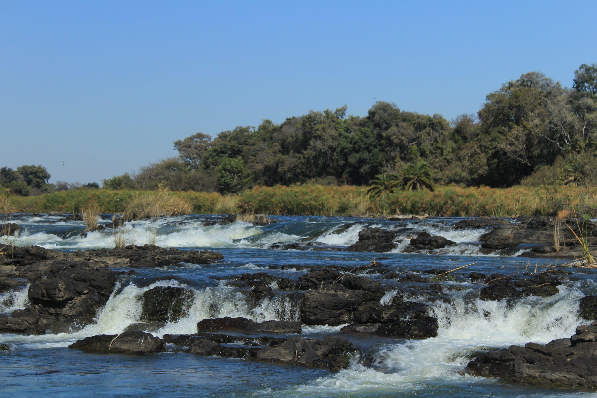 De popa falls in de buurt van Divundu