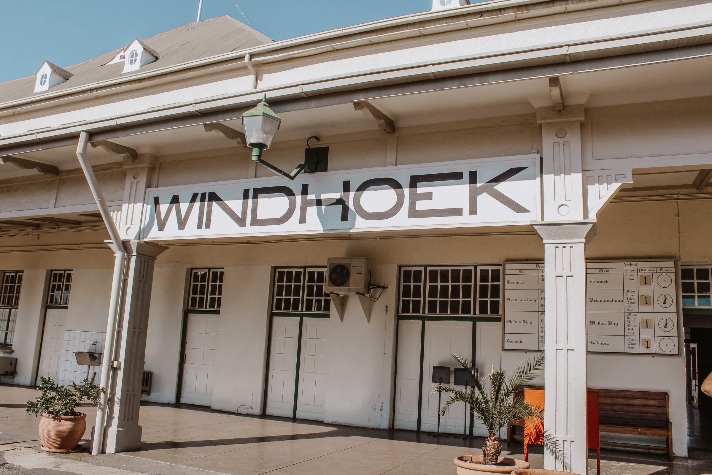 Het treinstation in Windhoek