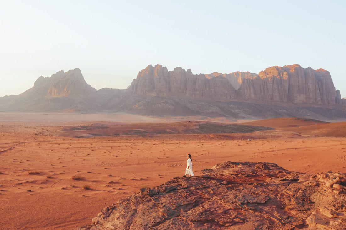 Wadi Rum, Jordanië behoort absoluut bij de beste backpack bestemmingen