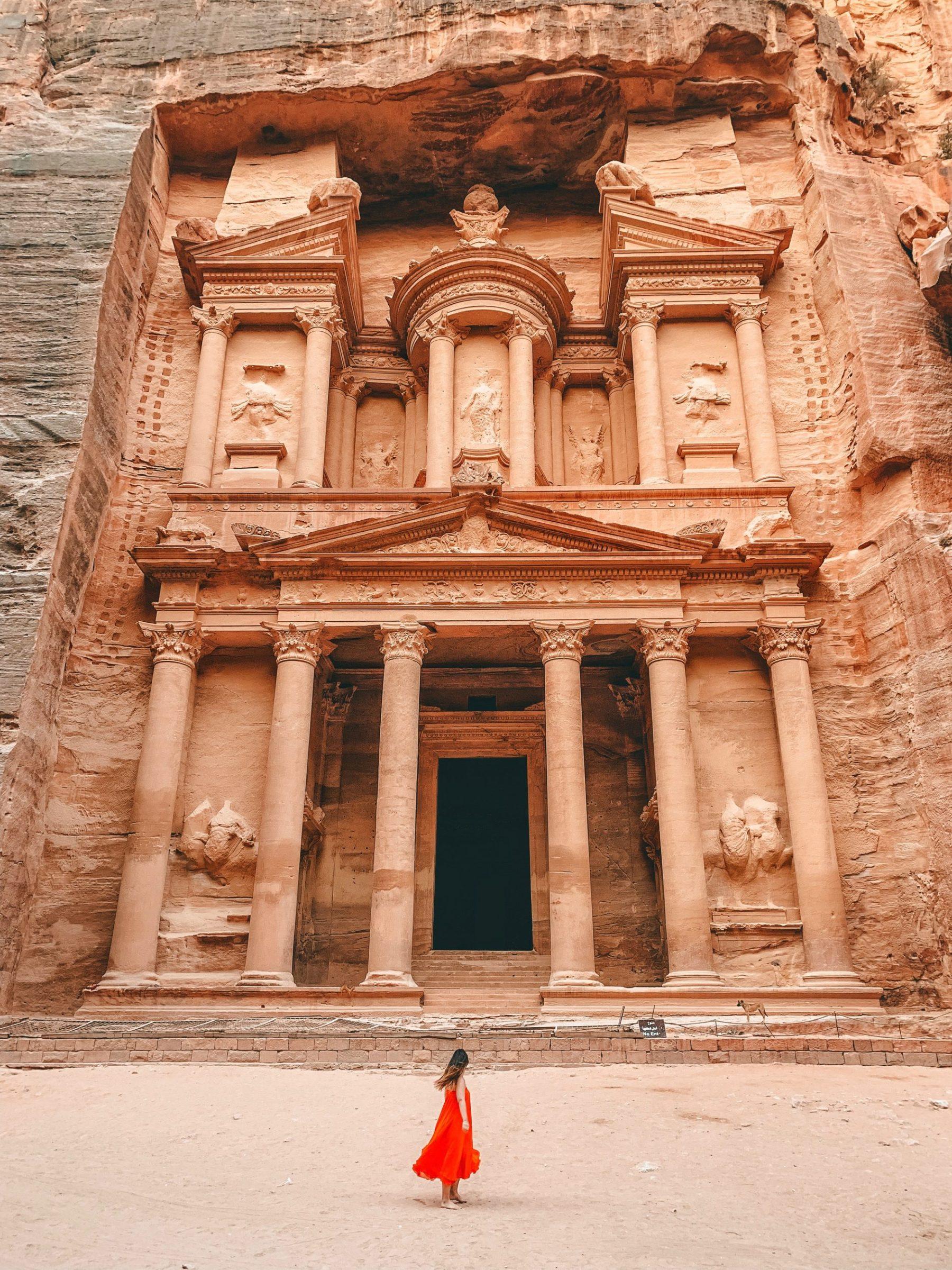 The Treasury, Petra, Jordanië om 06:20u