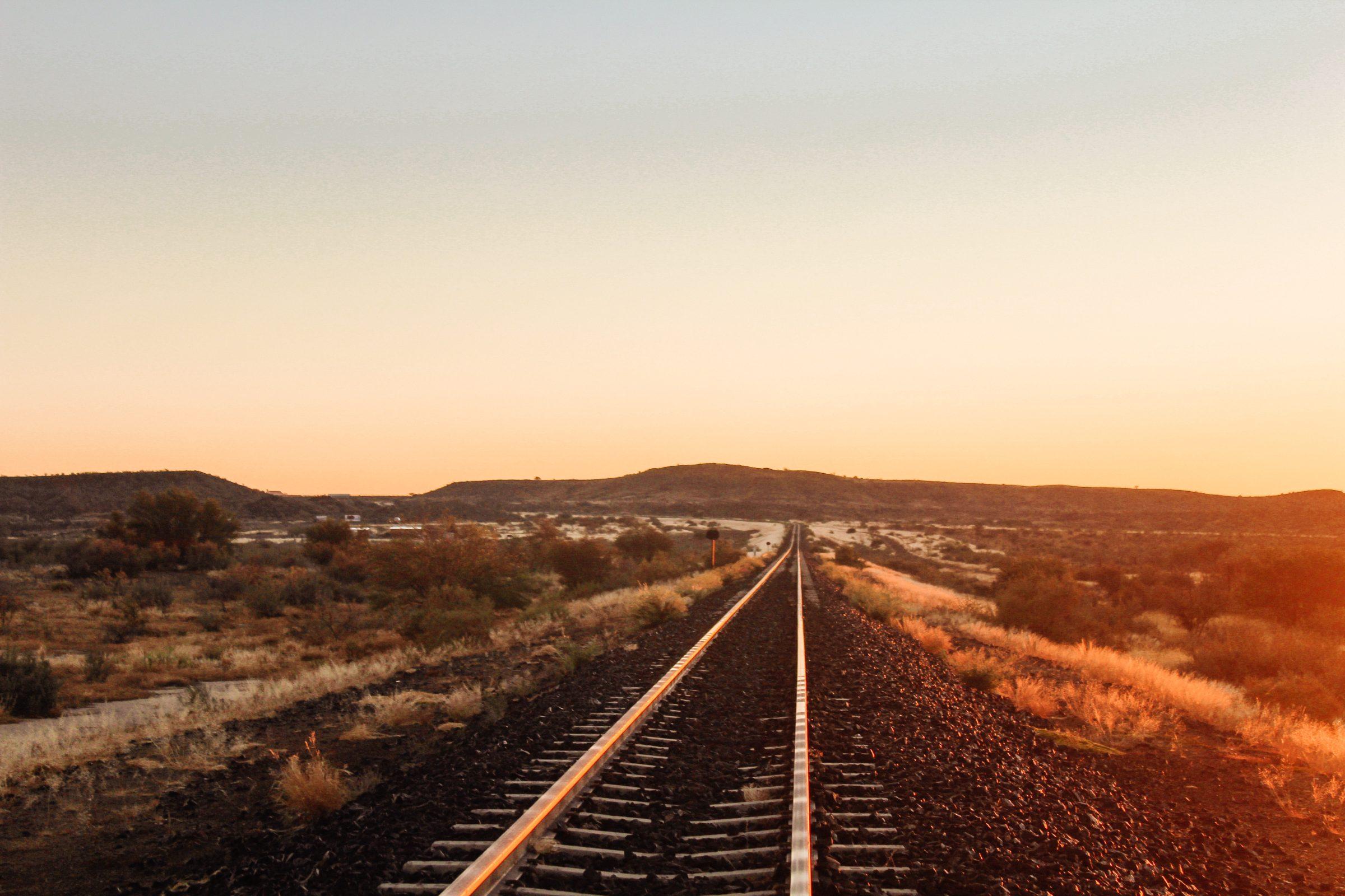 Een van de weinige spoorlijnen van Namibië
