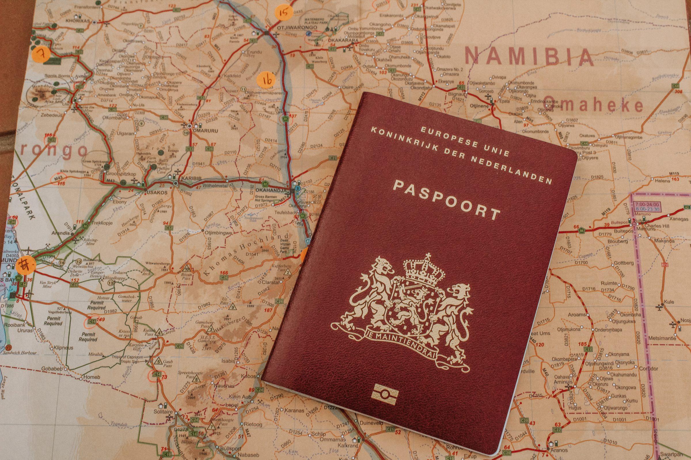 Voorbereiding Namibië   Je paspoort moet lang genoeg geldig zijn