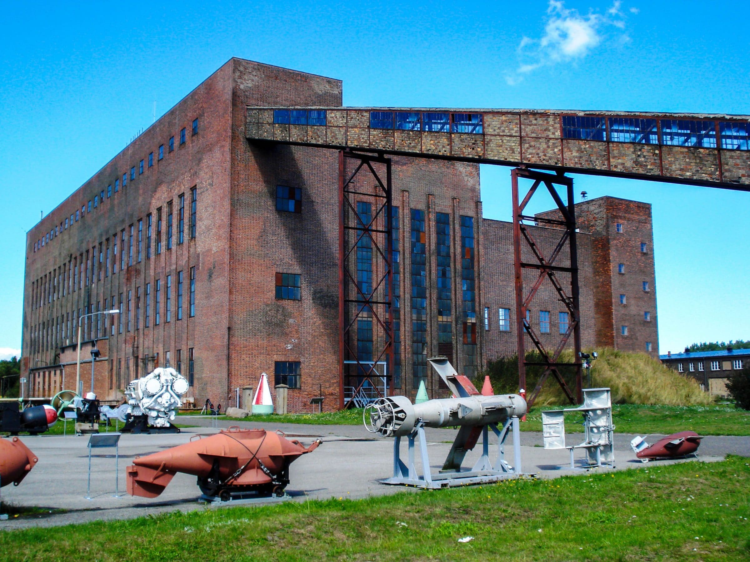 De voormalige krachtcentrale doet nu dienst als museum in Peenemünde